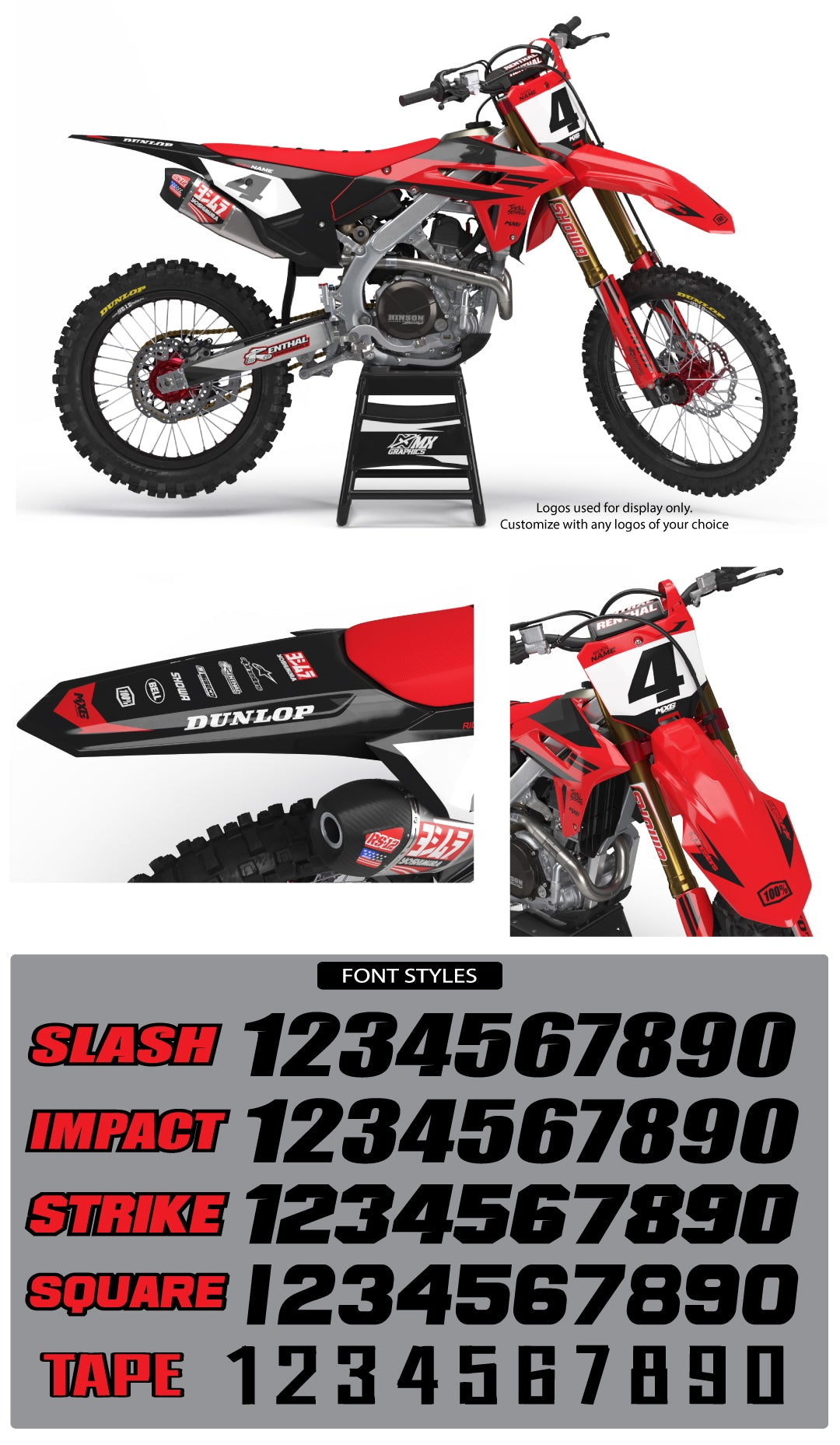 MX20 Graphic Kit for Honda's