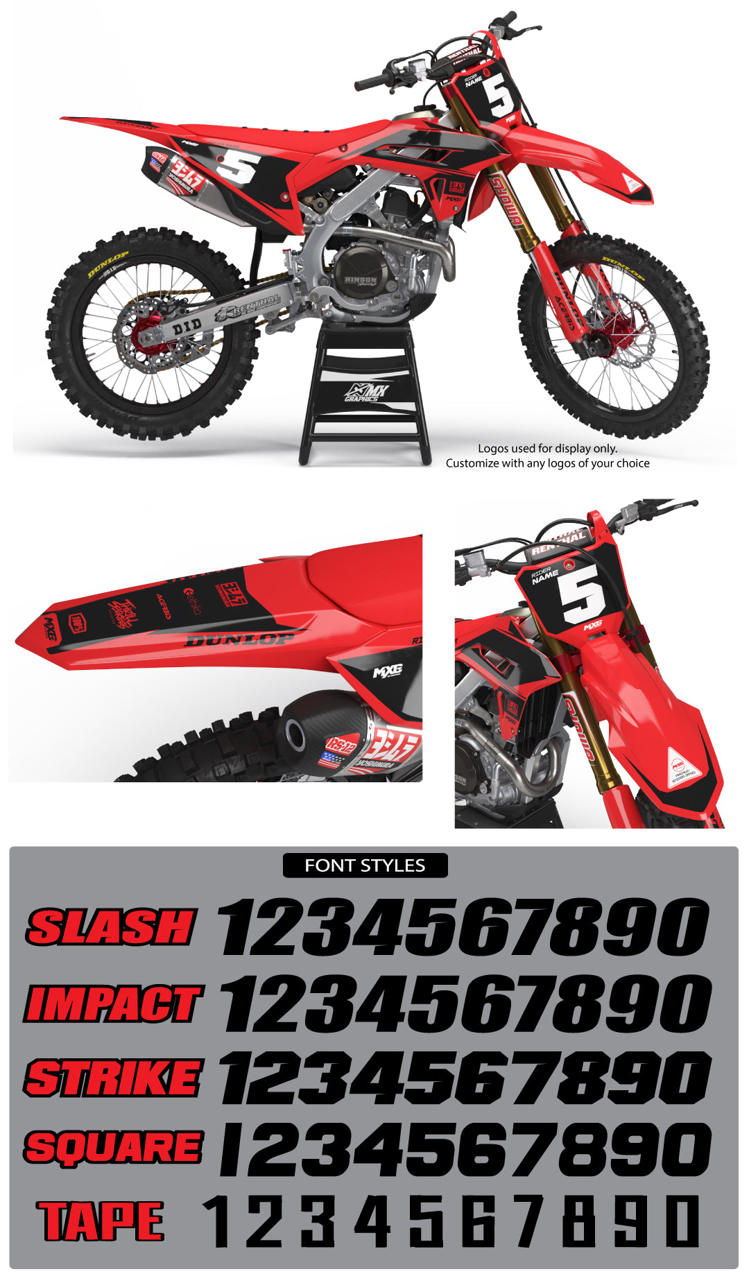 Stock Graphic Kit for Honda's