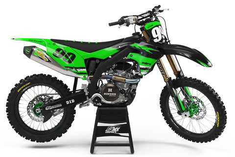Kawasaki MX25 Graphic Kit Green