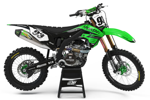 Kawasaki MX13 Graphic Kit Green