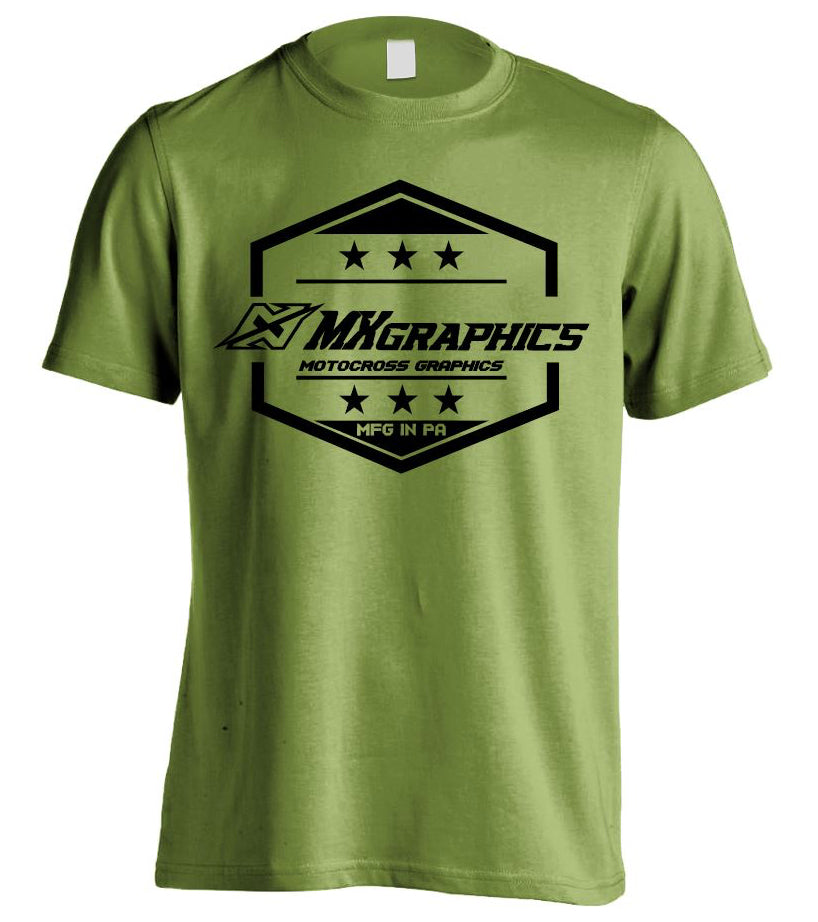 Badge T  Shirt Military Green
