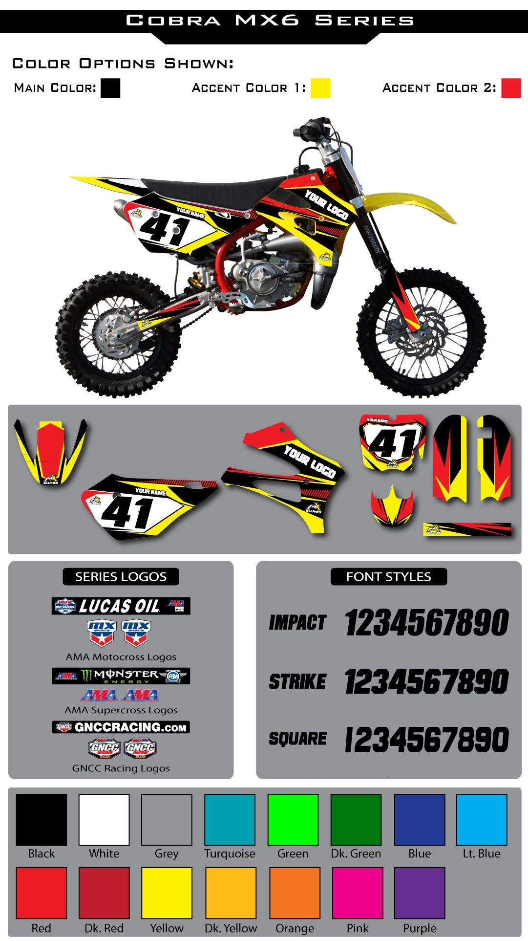 Cobra MX6 Graphic Kit