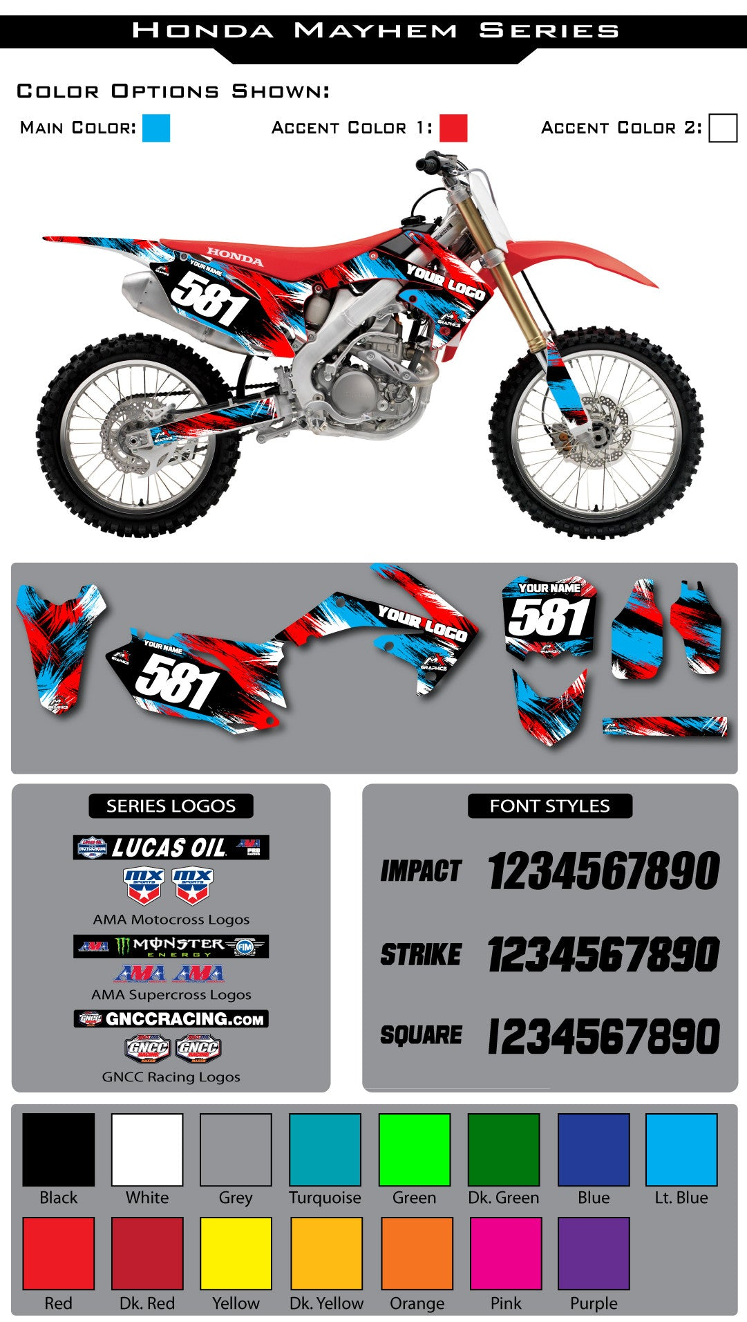 Honda Mayhem Graphic Kit