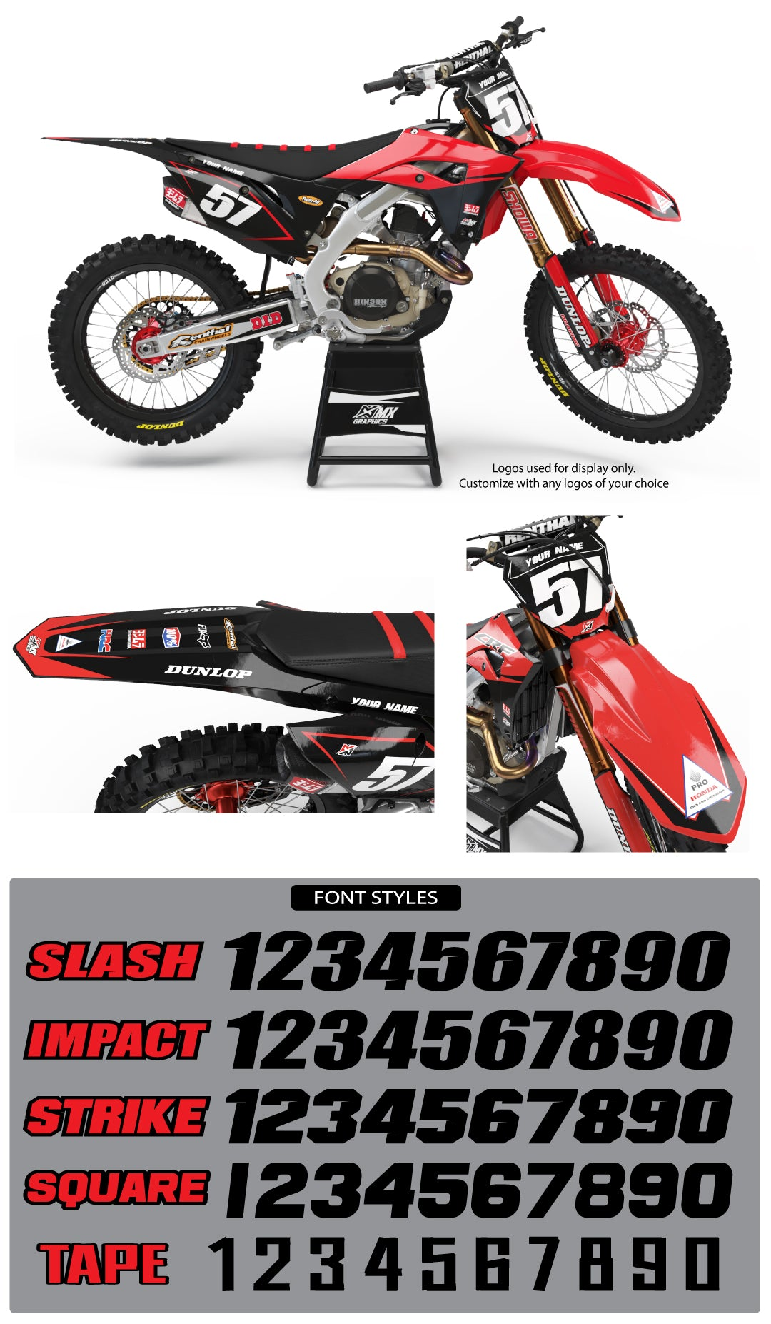 Honda MX13 Graphic Kit