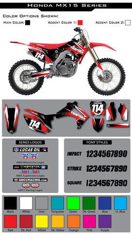 Honda MX15 Graphic Kit
