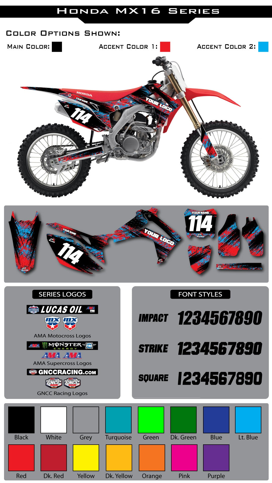 Honda MX16 Graphic Kit