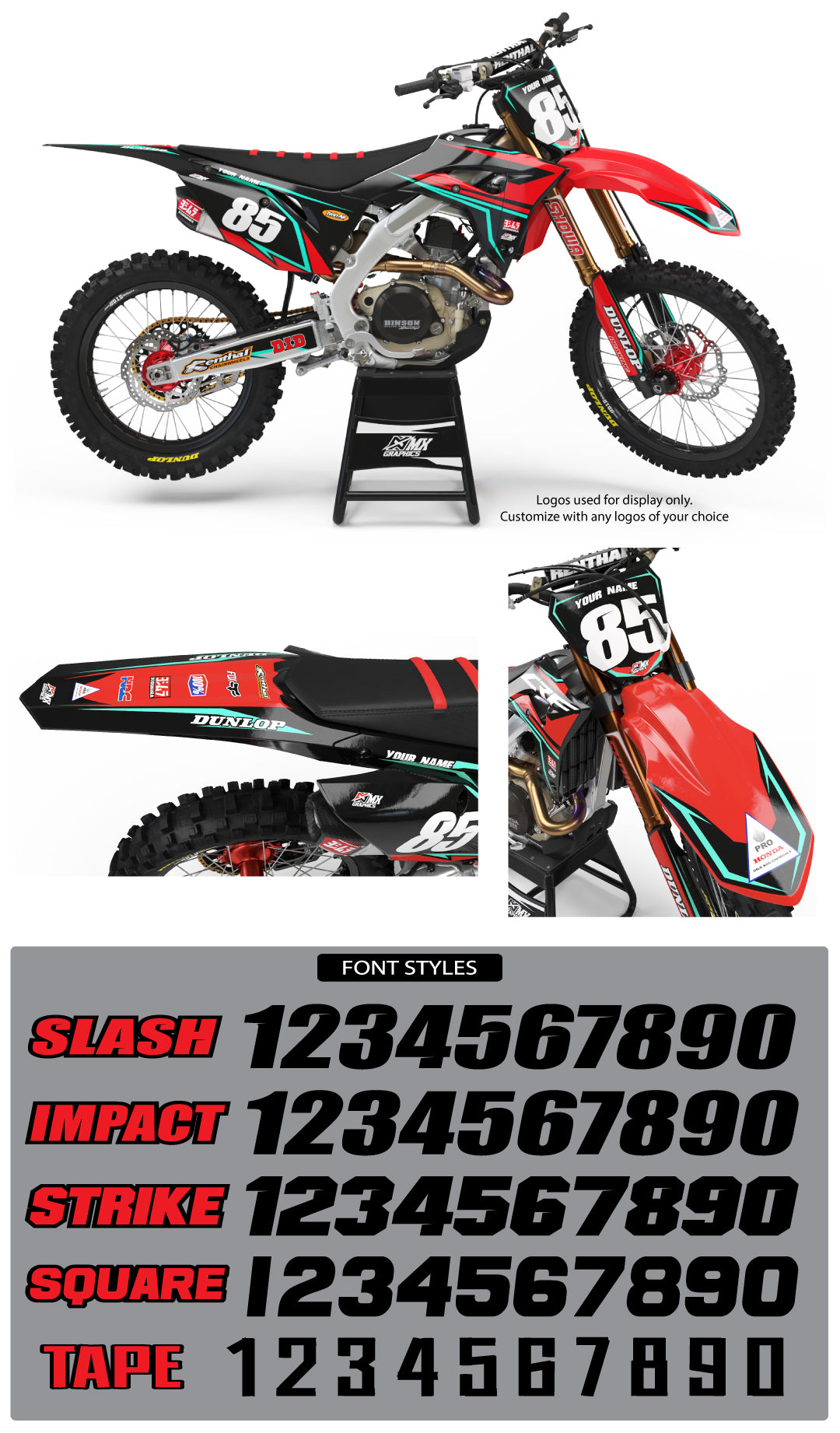 MX19 Graphic Kit for Honda's