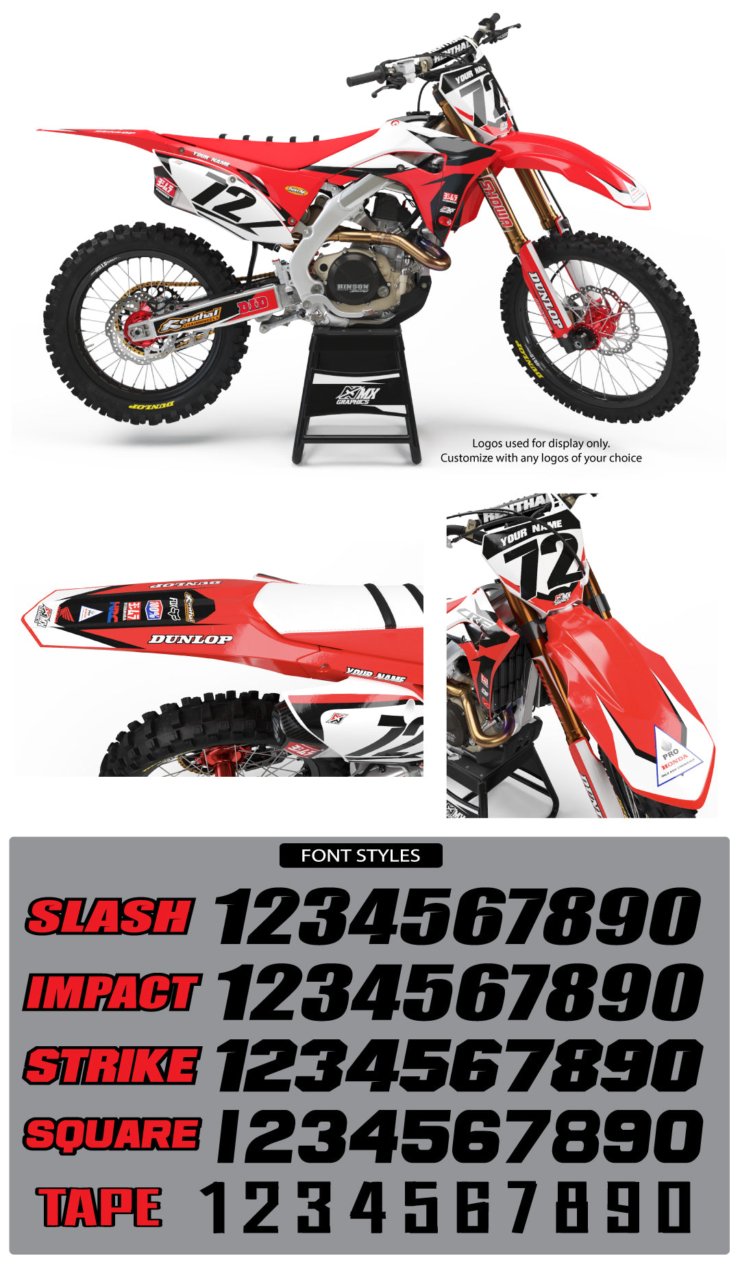Honda MX22 Graphic Kit