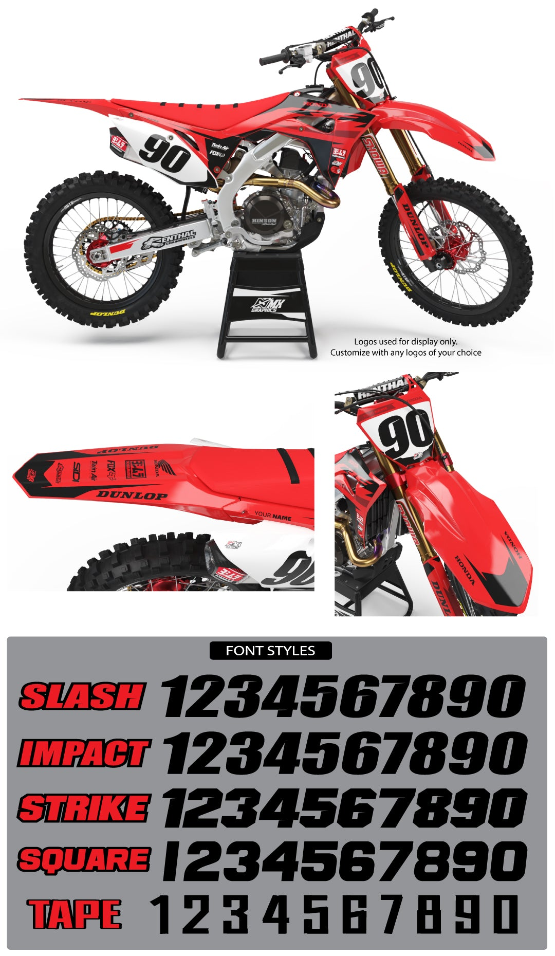 MX27 Graphic Kit for Honda's