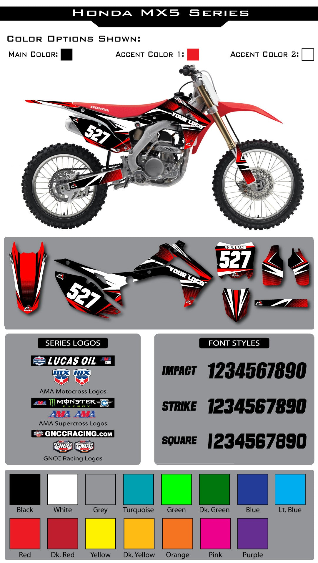 Honda MX5 Graphic Kit