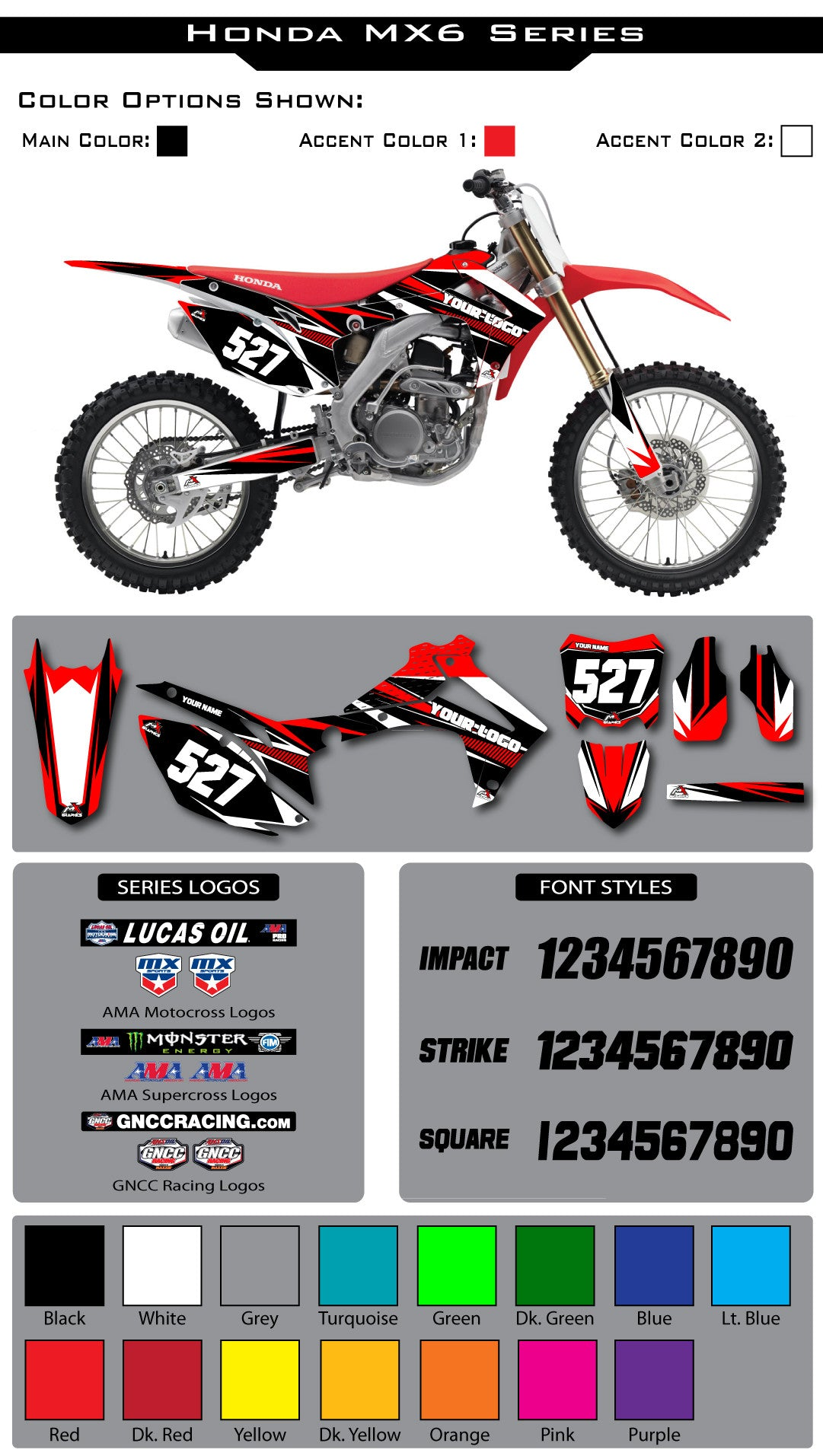 Honda MX6 Graphic Kit