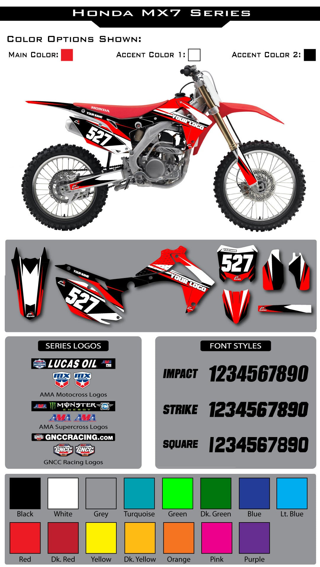 Honda MX7 Graphic Kit