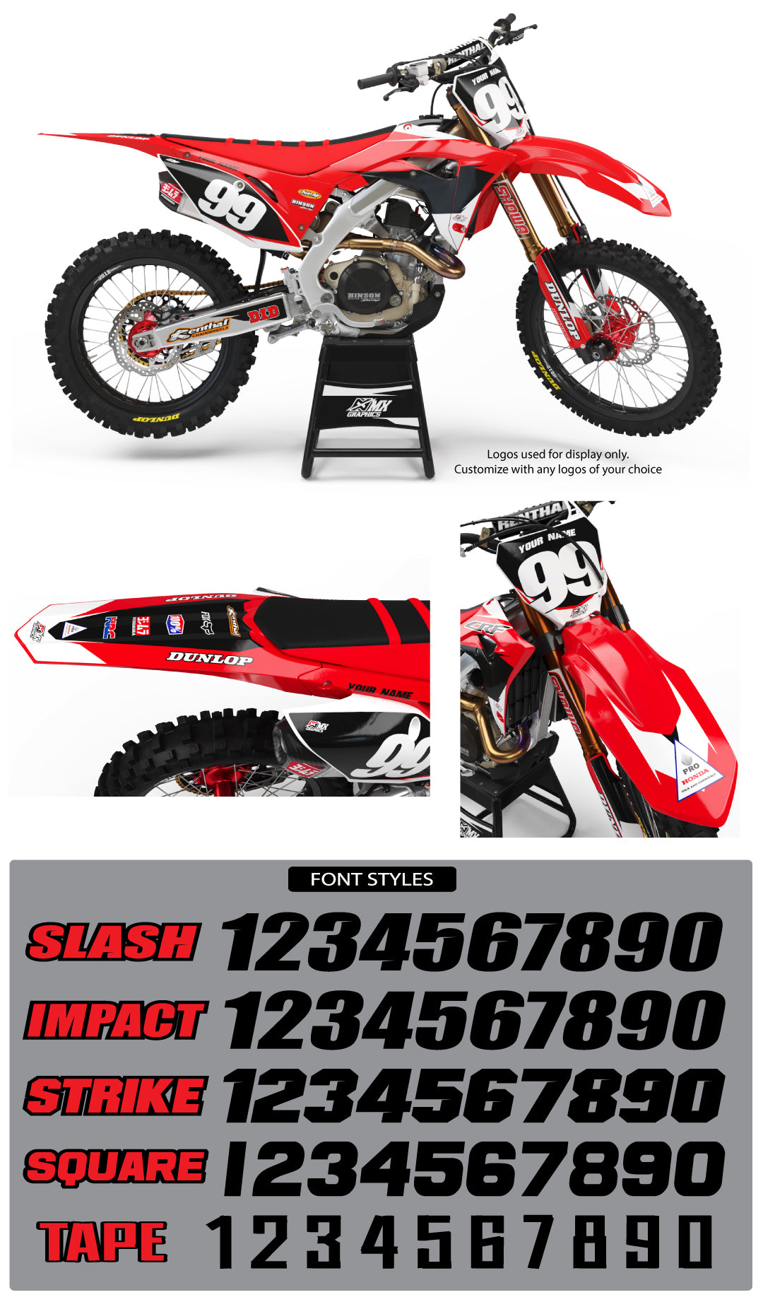 Honda MX8 Graphic Kit