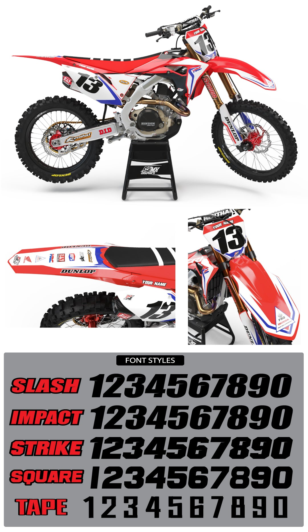Honda Pro Series Graphic Kit