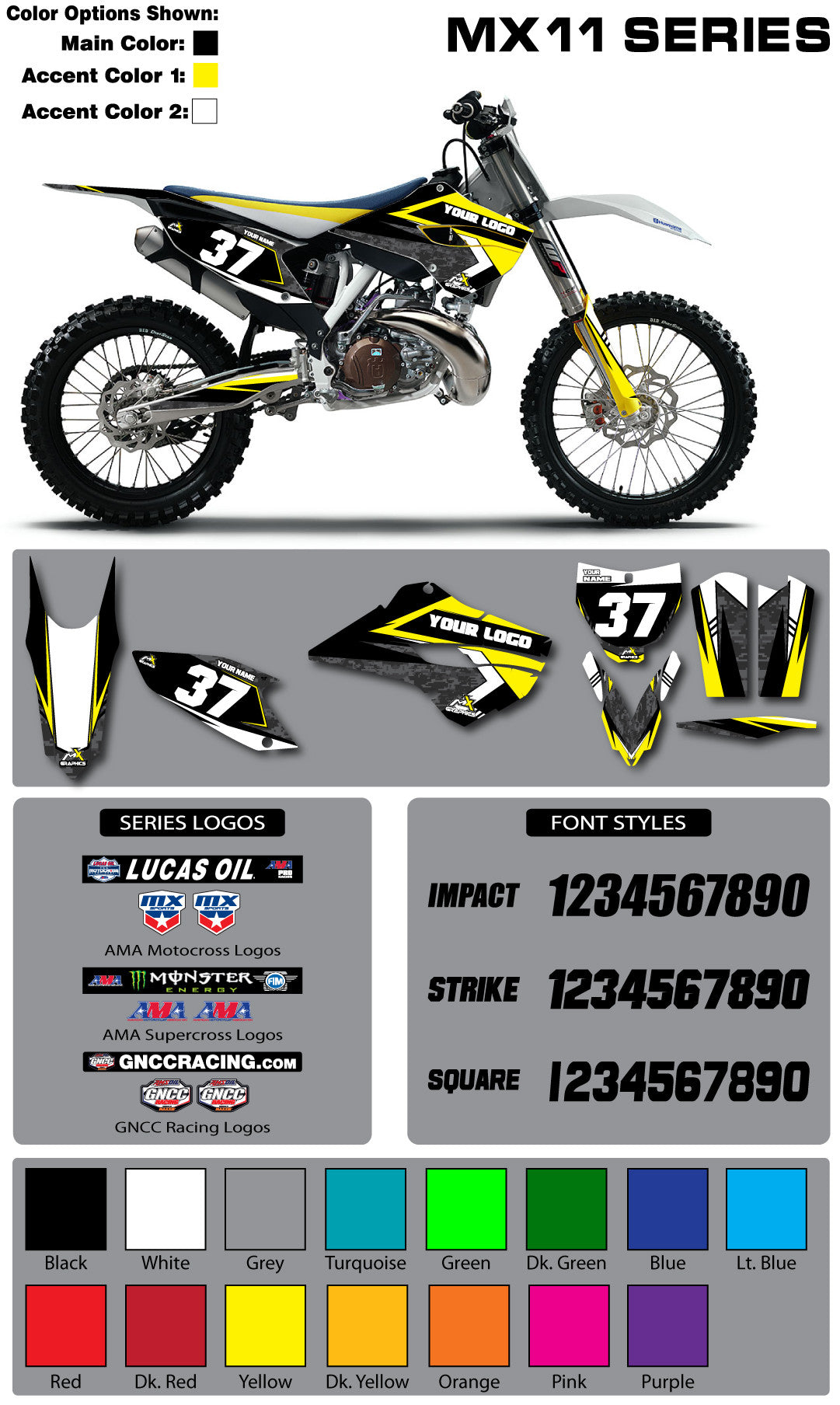 Husqvarna MX 11 Graphic Kit