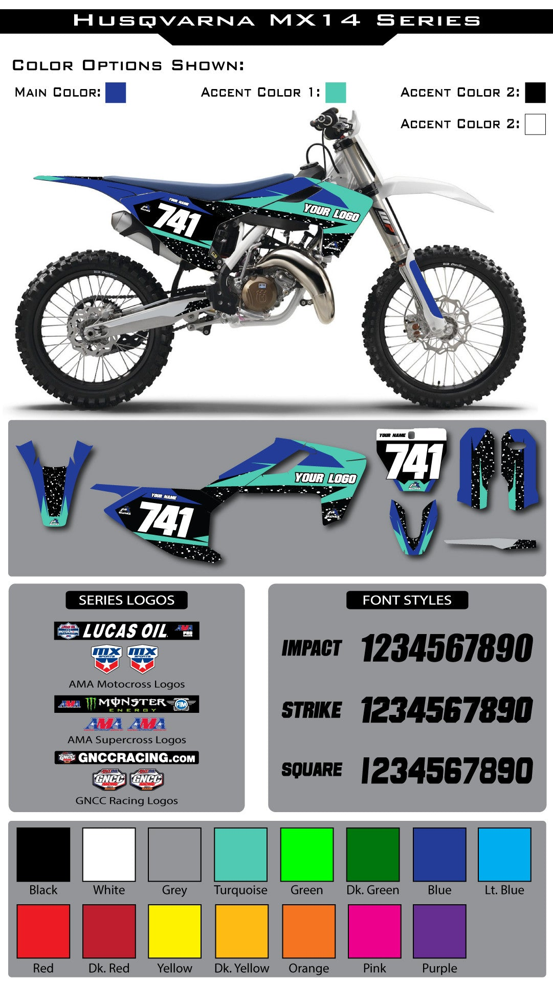 Husqvarna MX 14 Graphic Kit