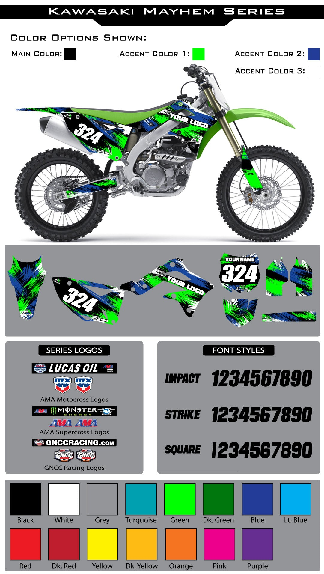 Kawasaki Mayhem Graphic Kit