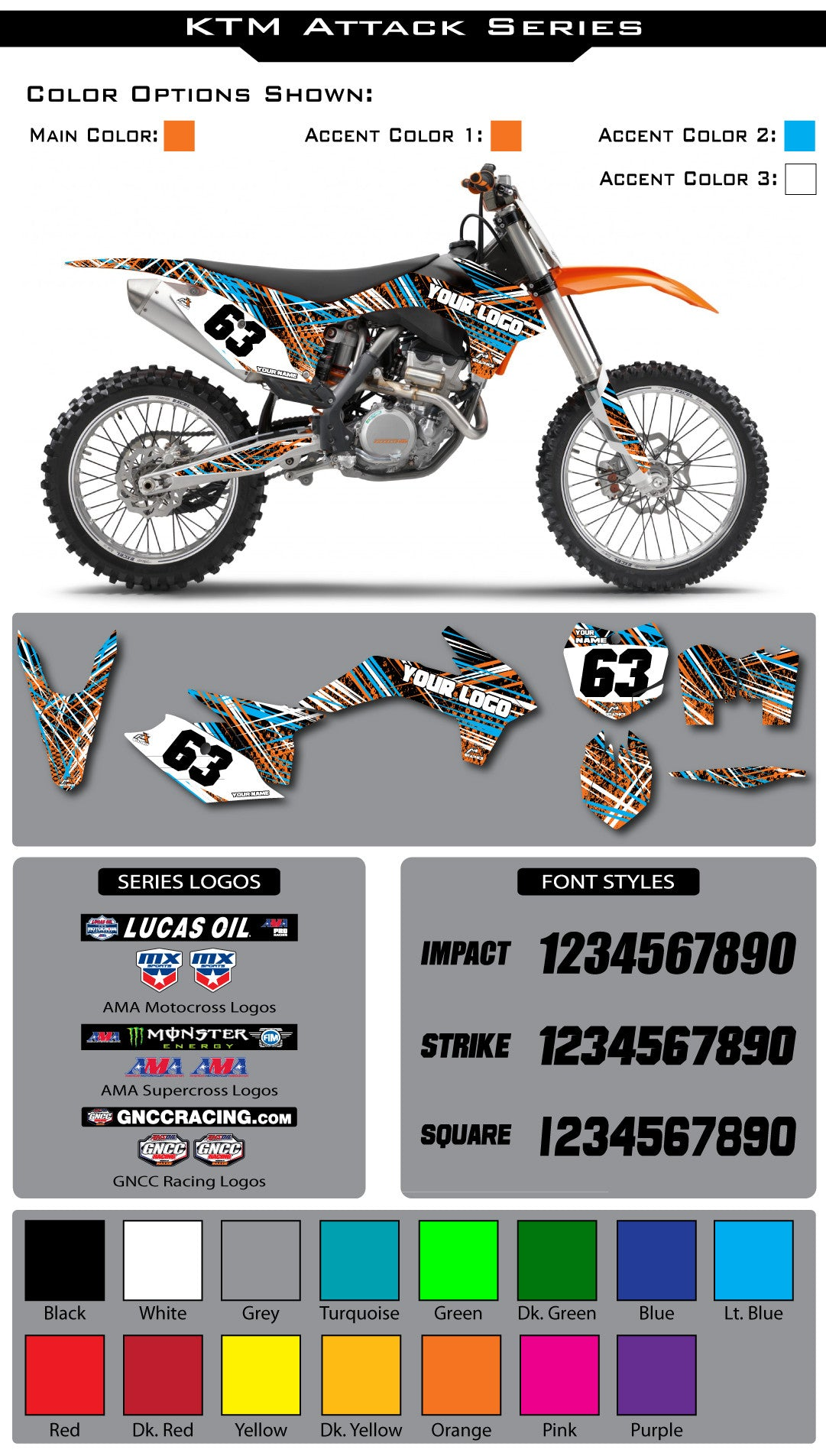 KTM Attack Graphic Kit
