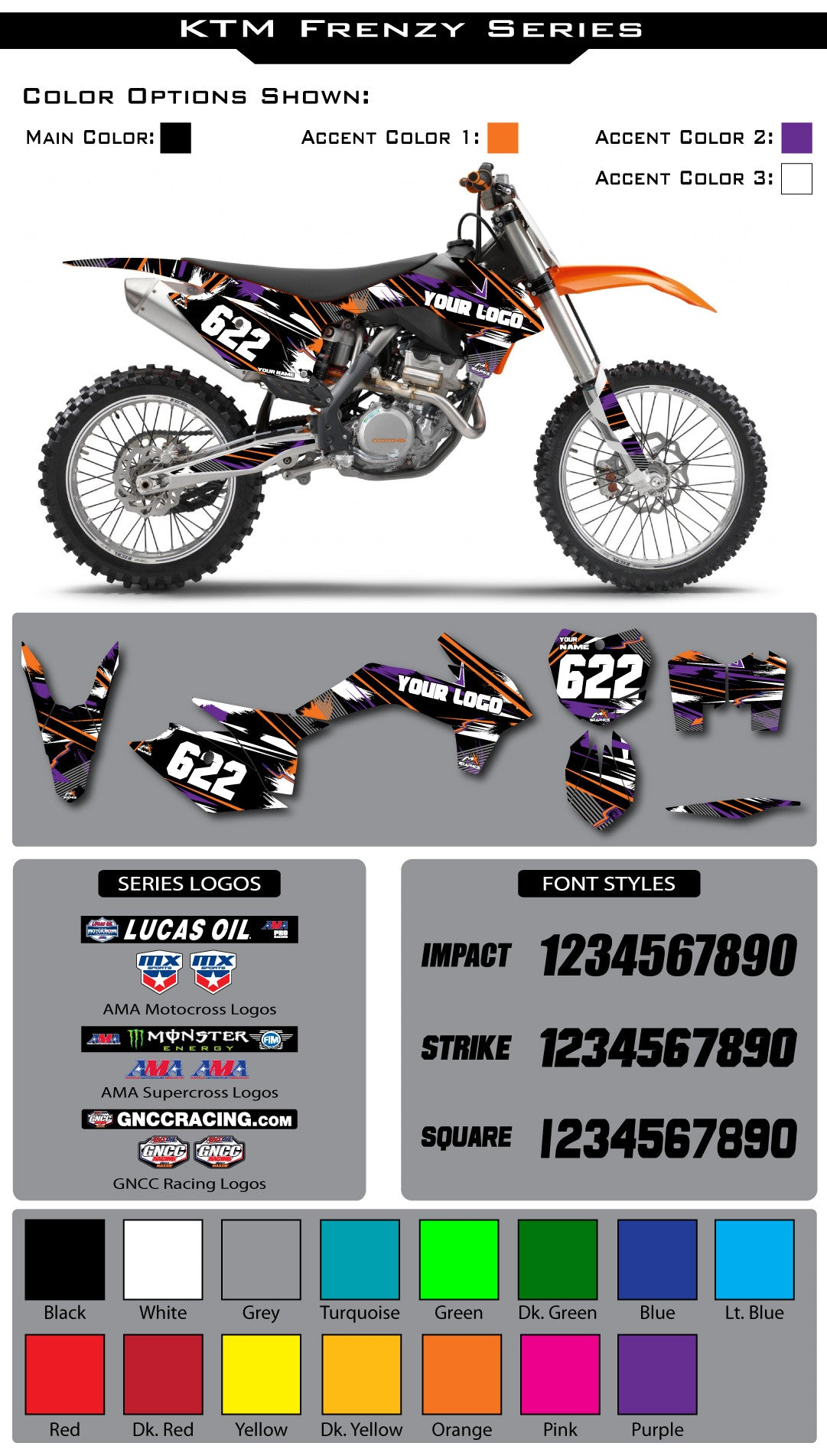 KTM Frenzy Graphic Kit