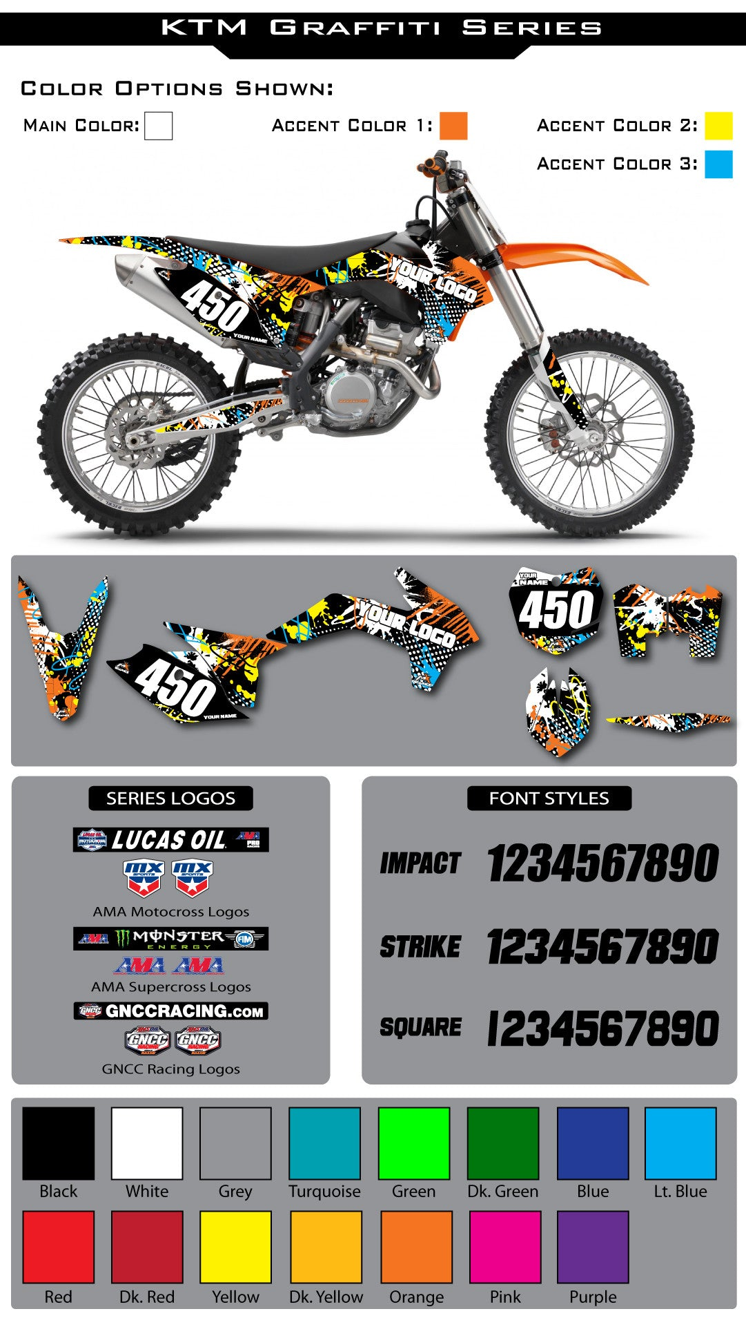 KTM Graffiti Graphic Kit