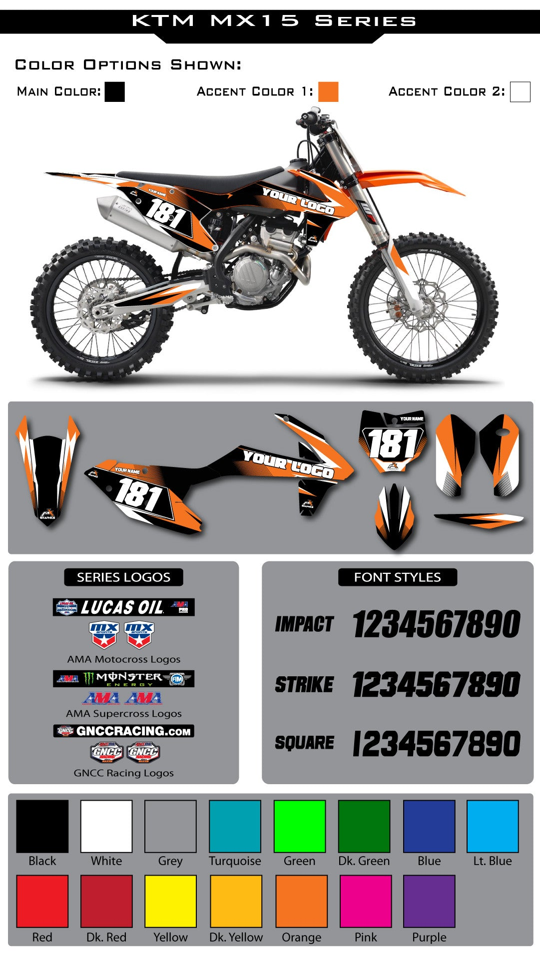 KTM MX15 Graphic Kit