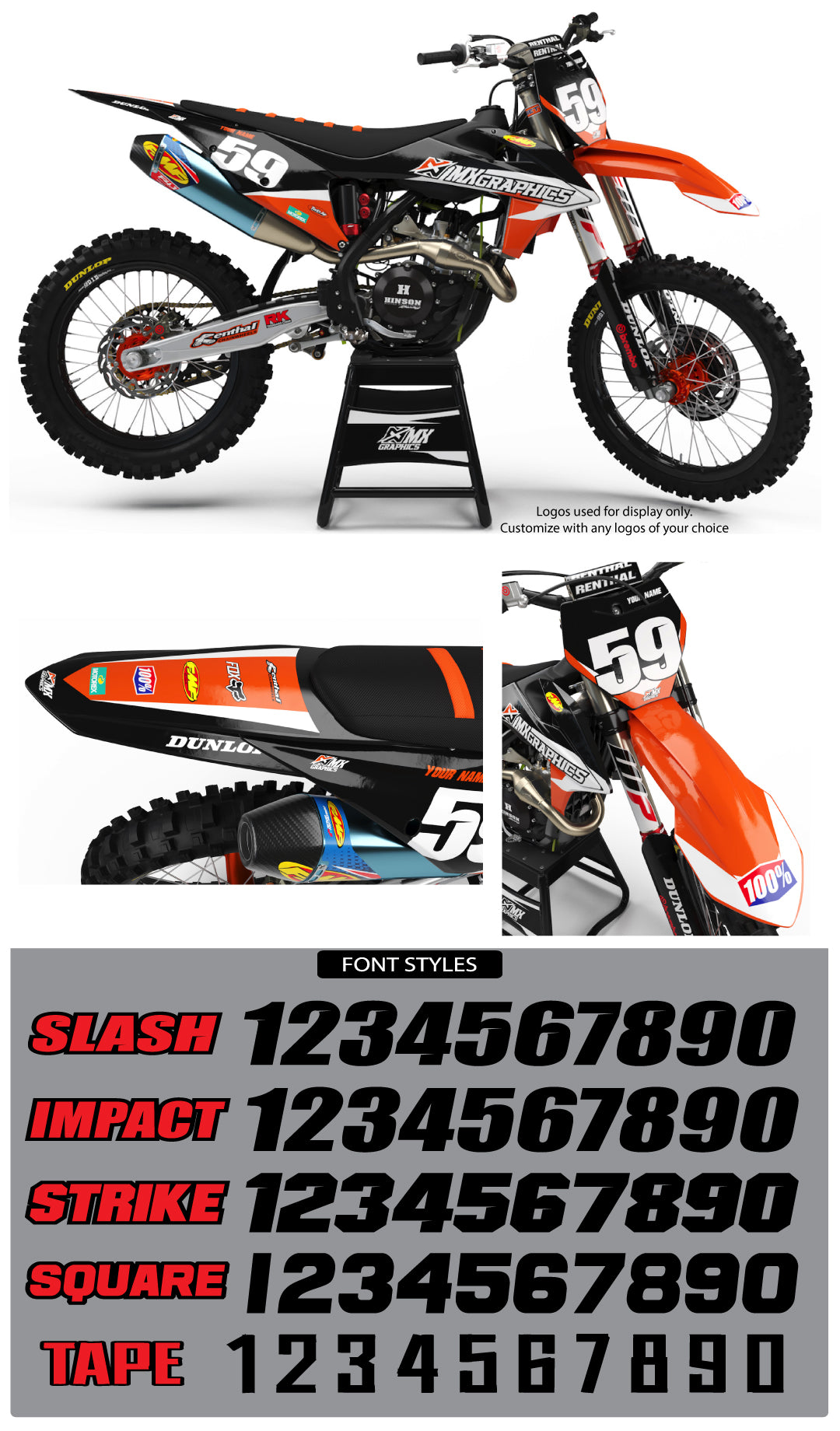 KTM MX23 Graphic Kit