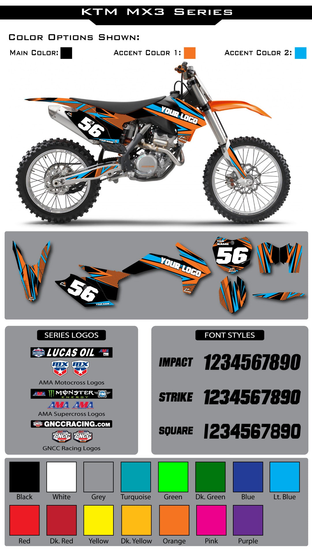 KTM MX3 Graphic Kit
