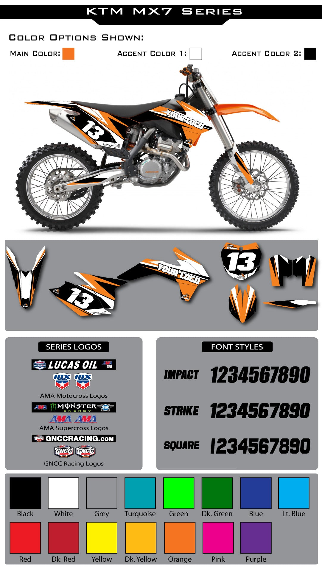 KTM MX7 Graphic Kit