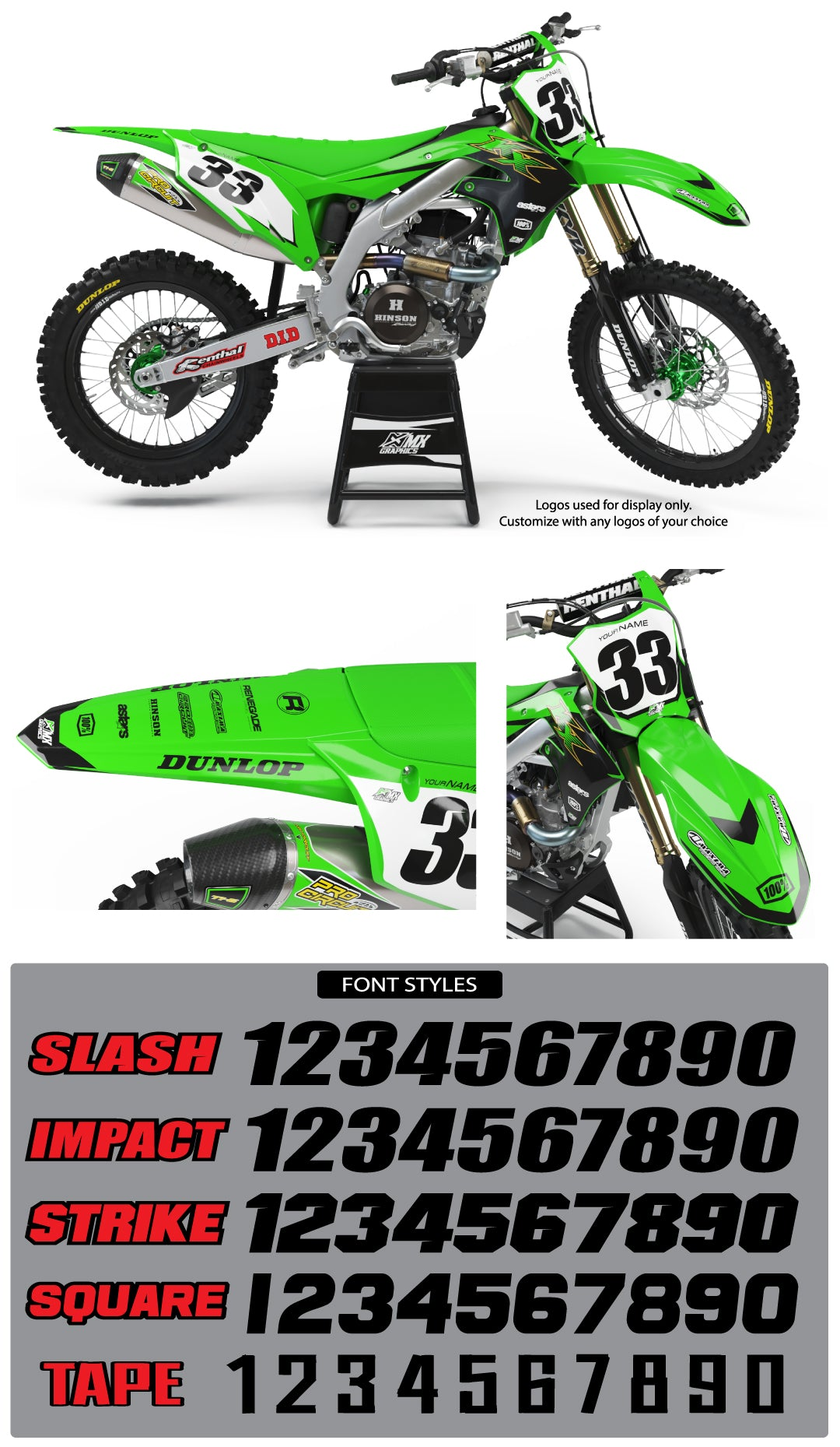 Kawasaki MX17 Graphic Kit