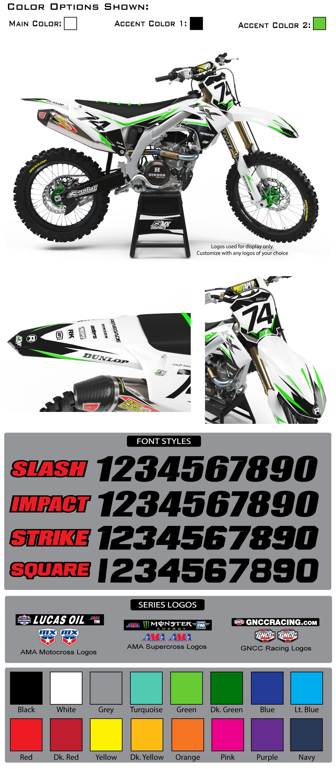 Kawasaki MX26 Graphic Kit