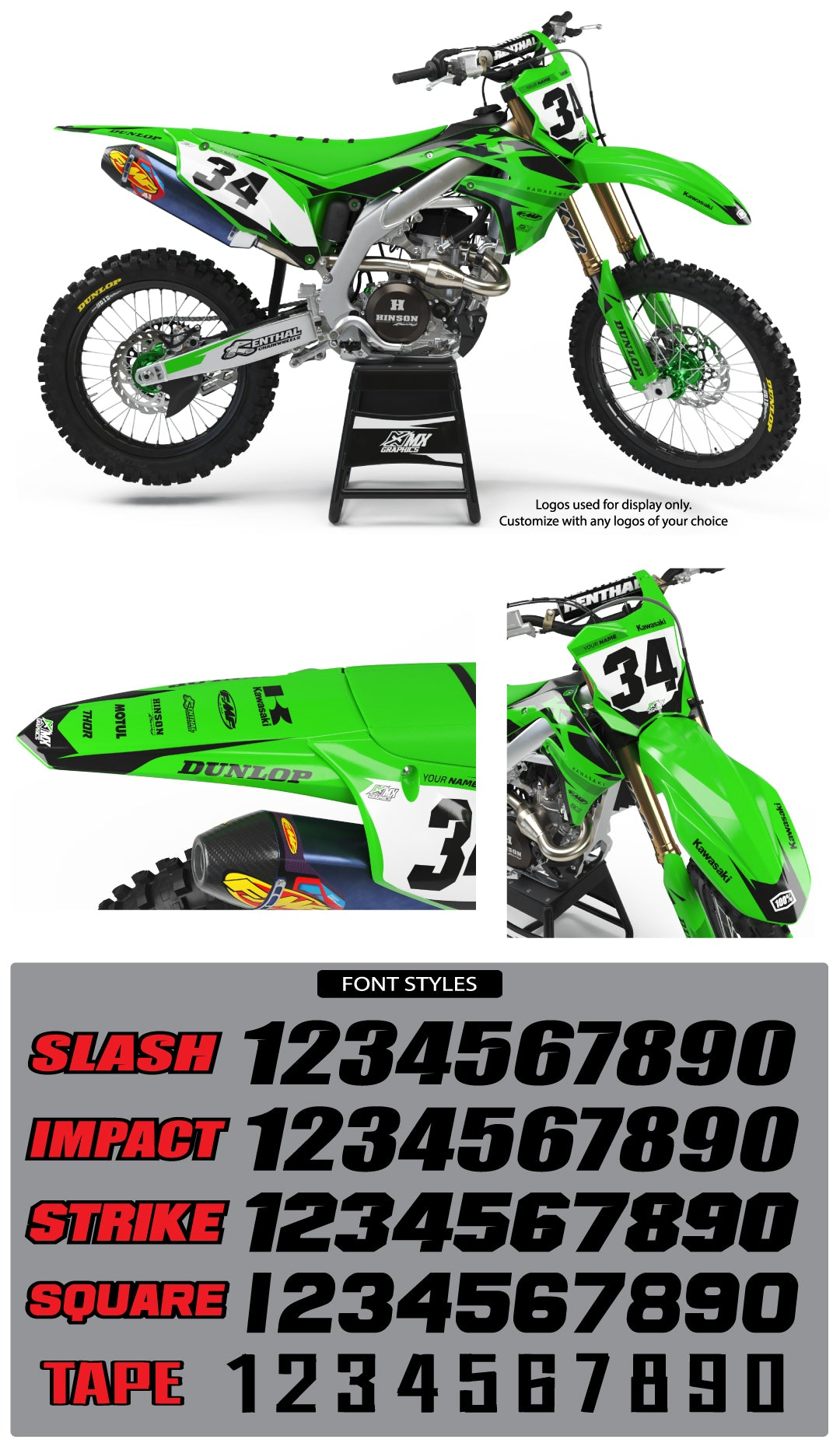 Kawasaki MX27 Graphic Kit