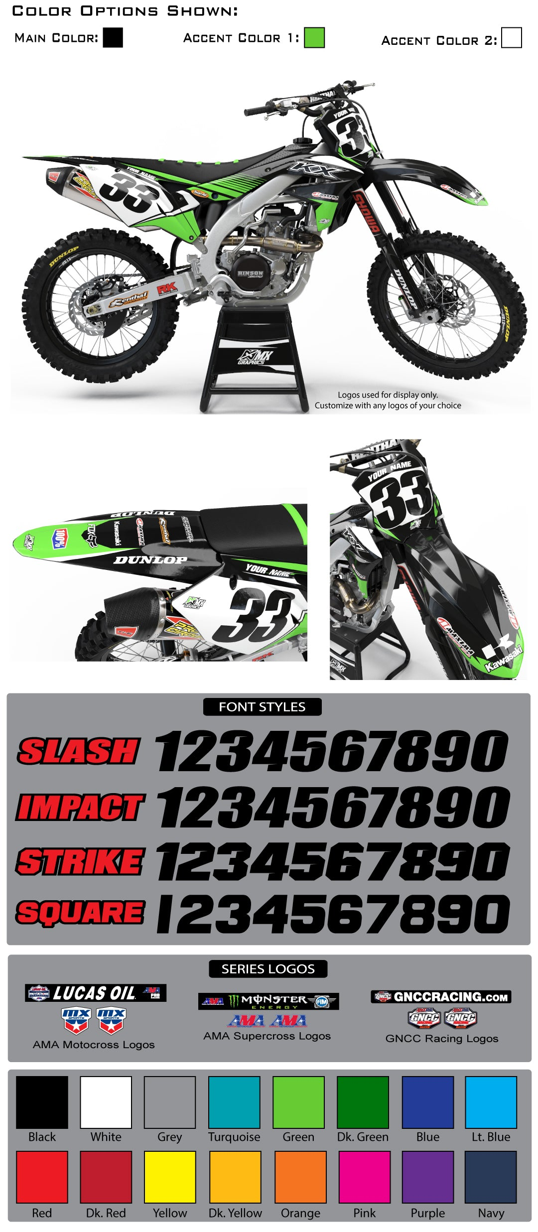 Kawasaki Pro Graphic Kit