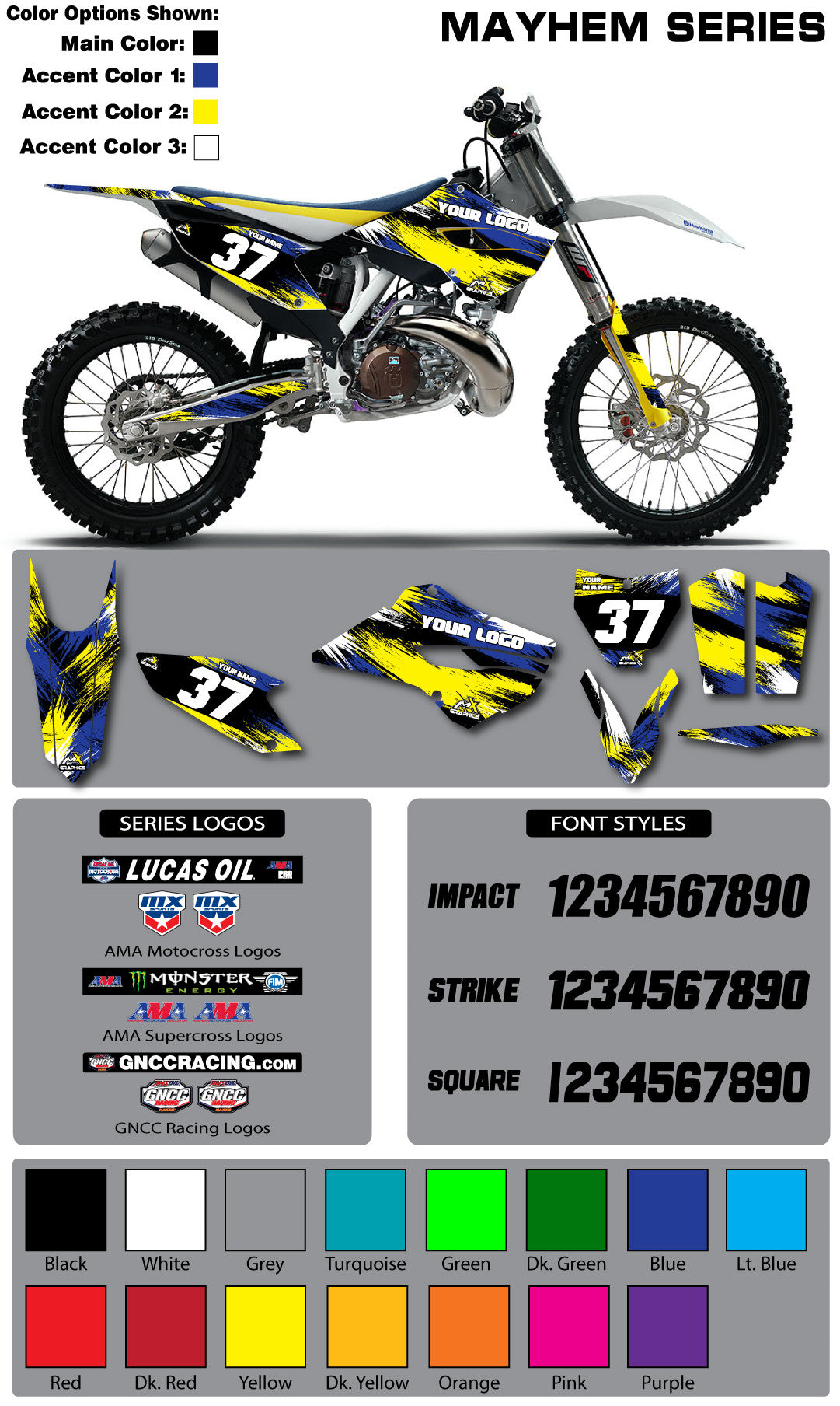 Husqvarna Mayhem Graphic Kit