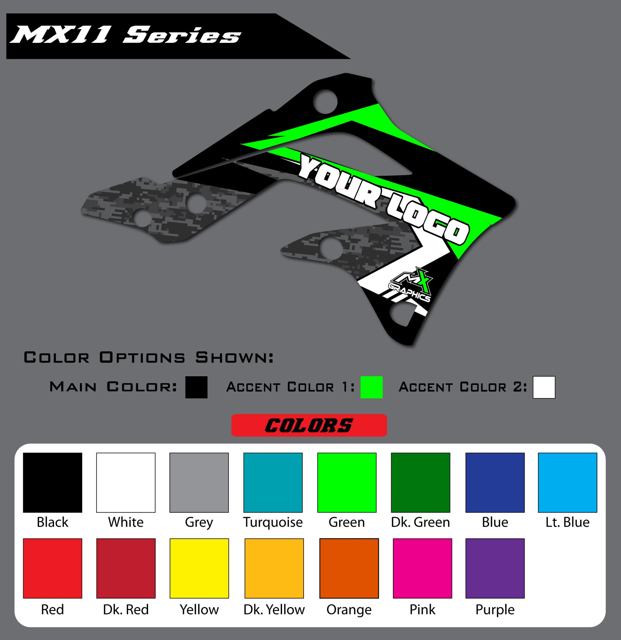 Kawasaki MX11 Shroud Graphics