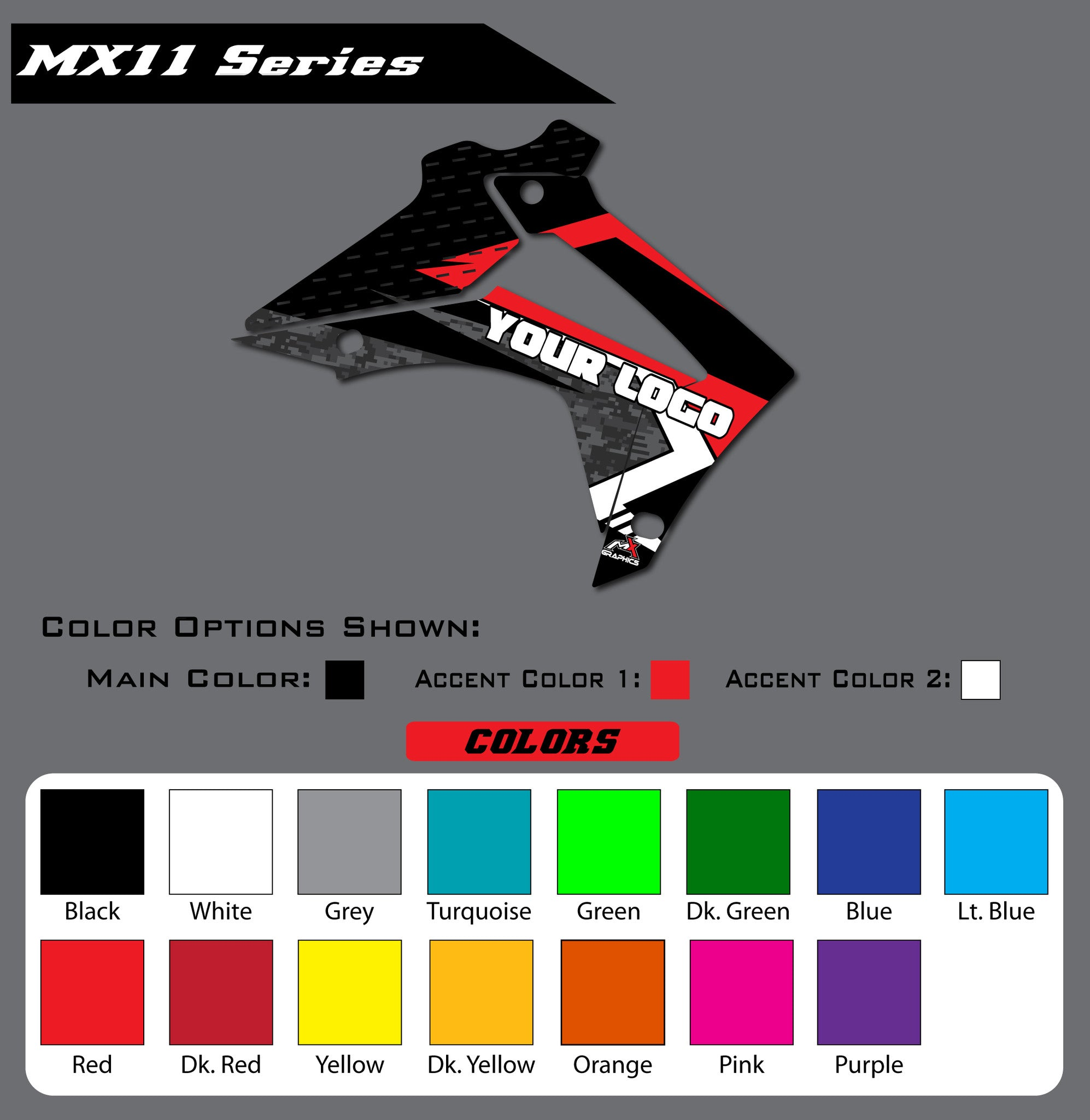 Honda MX11 Shroud Graphics