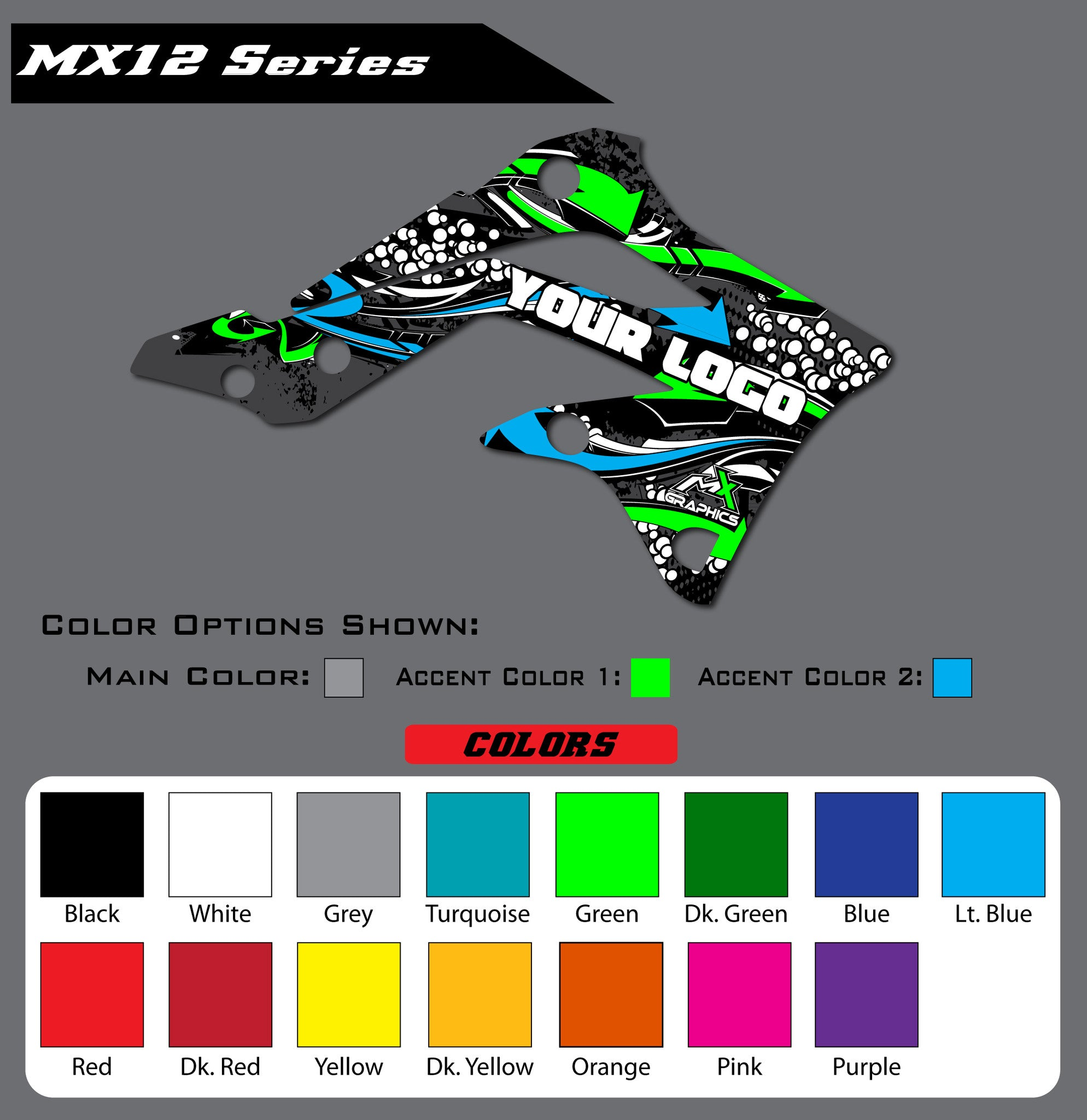 Kawasaki MX12 Shroud Graphics