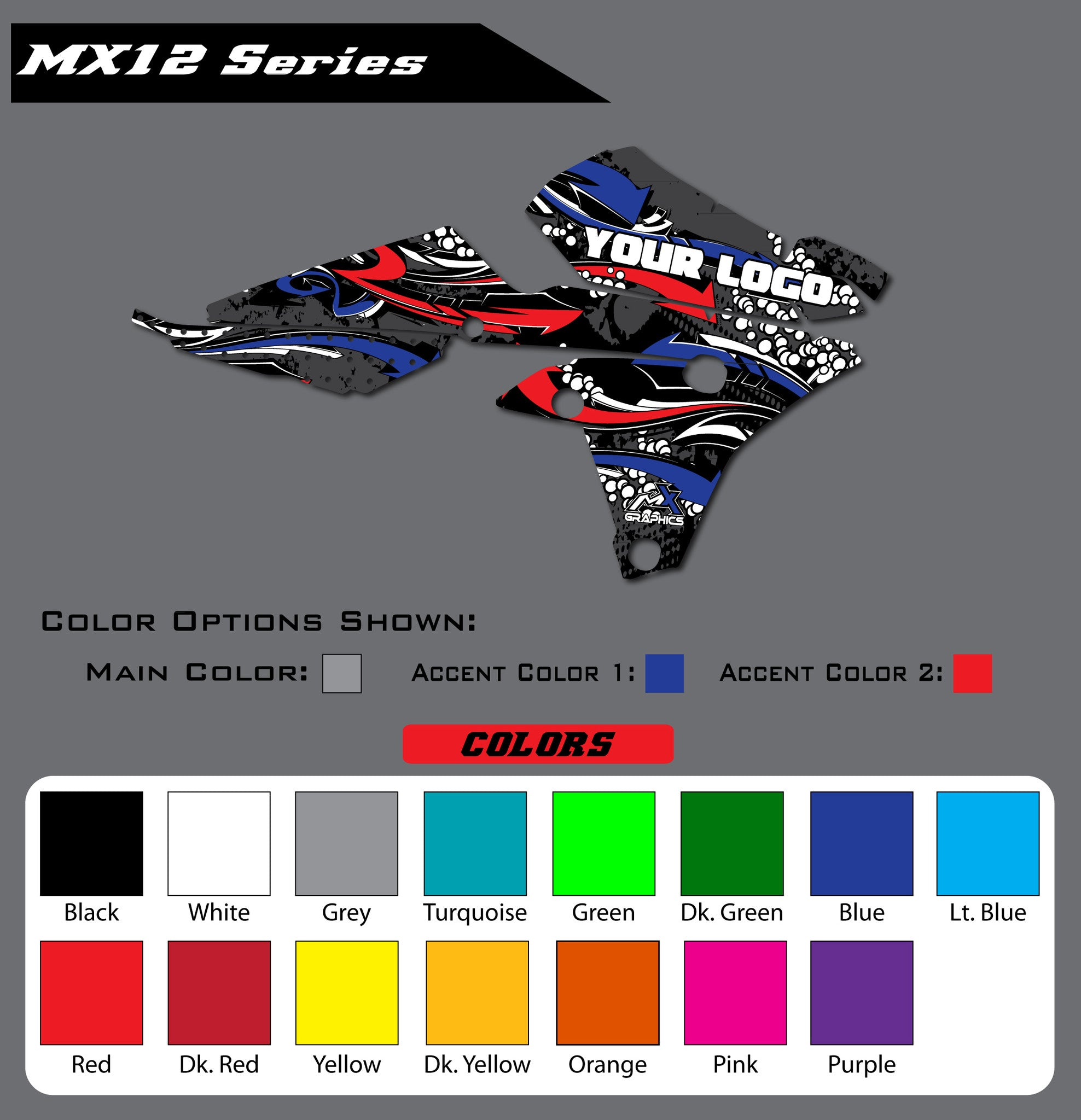 Yamaha MX12 Shroud Graphics
