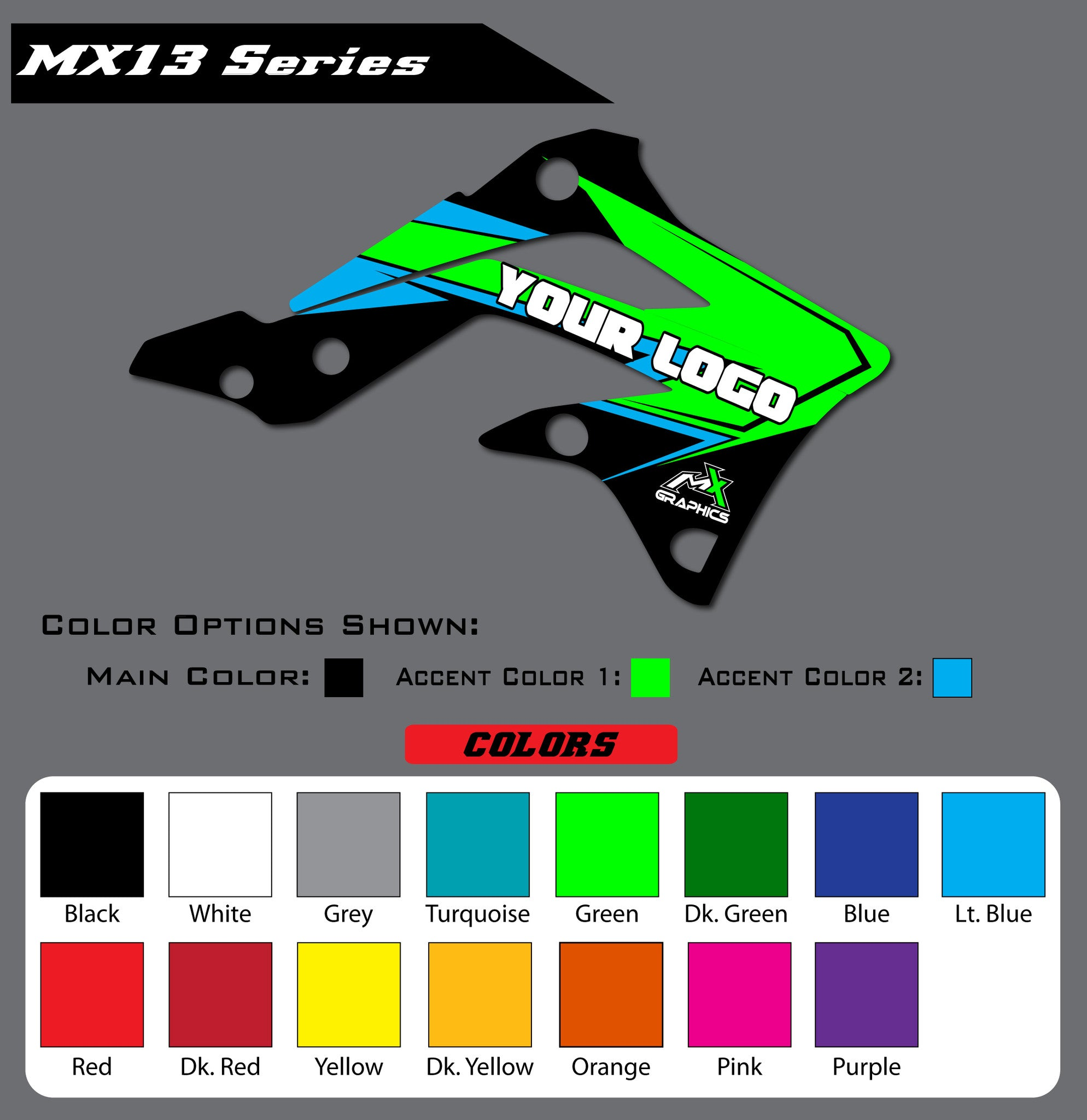 Kawasaki MX13 Shroud Graphics