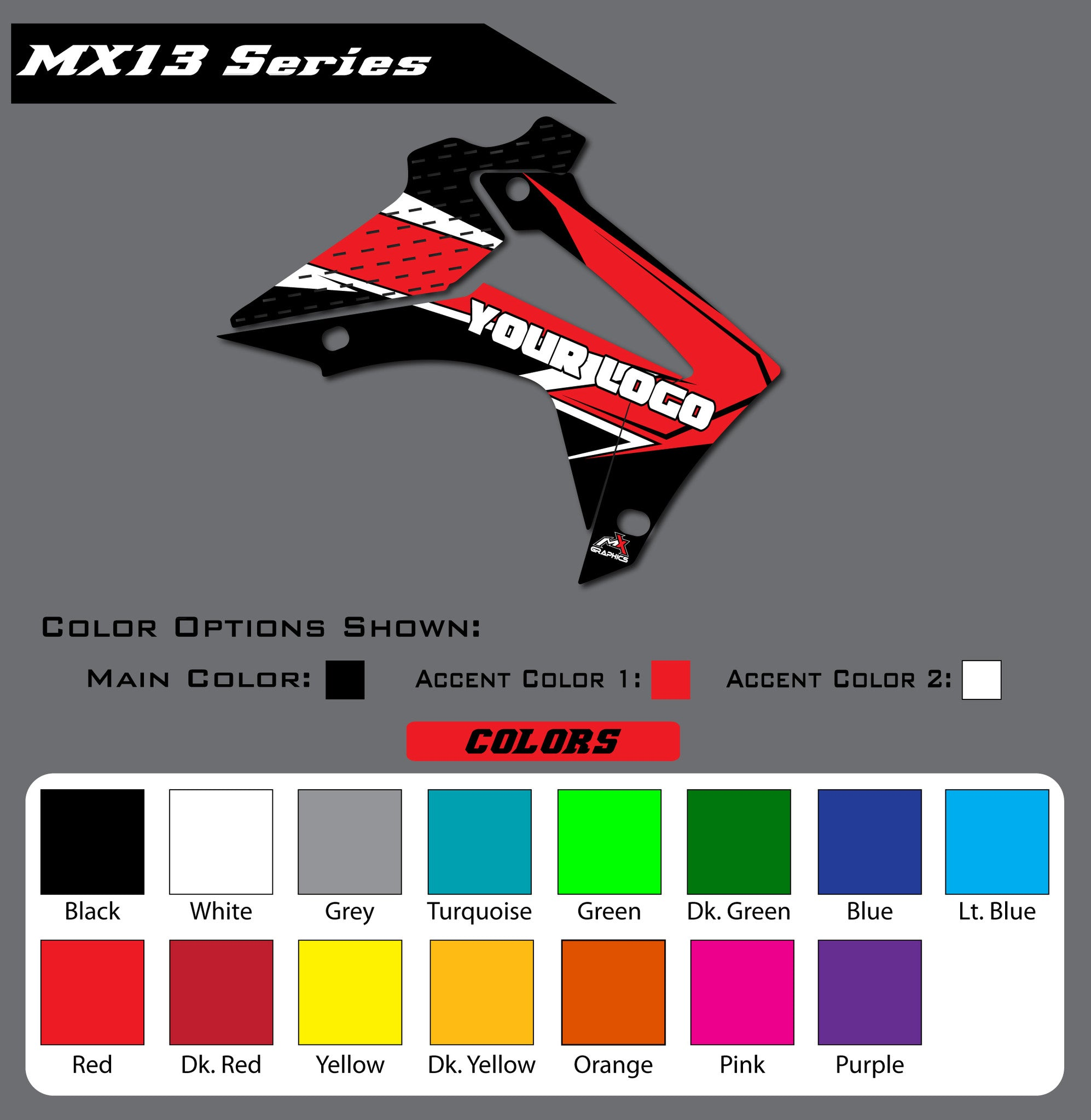 Honda MX13 Shroud Graphics