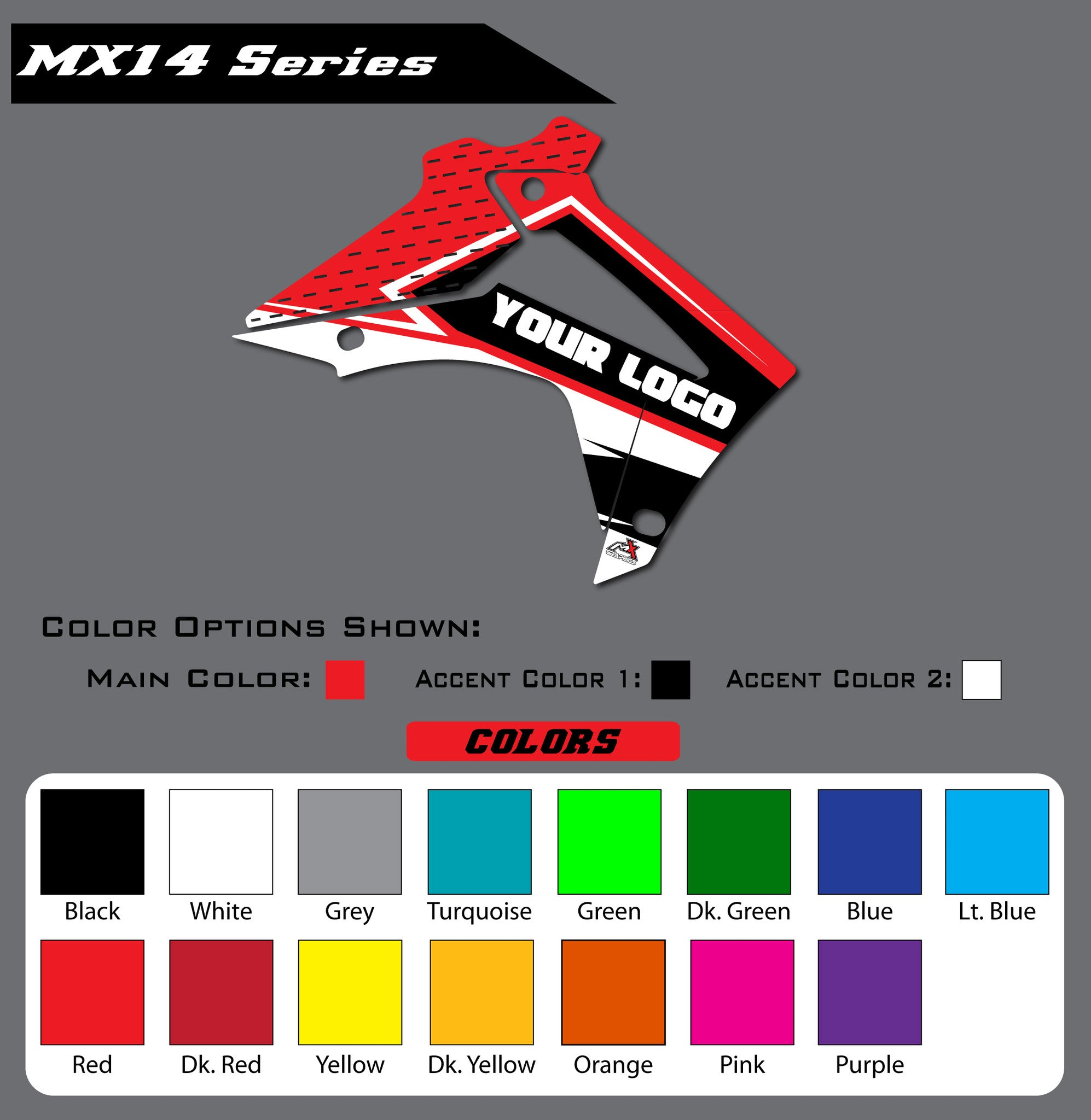 Honda MX14 Shroud Graphics