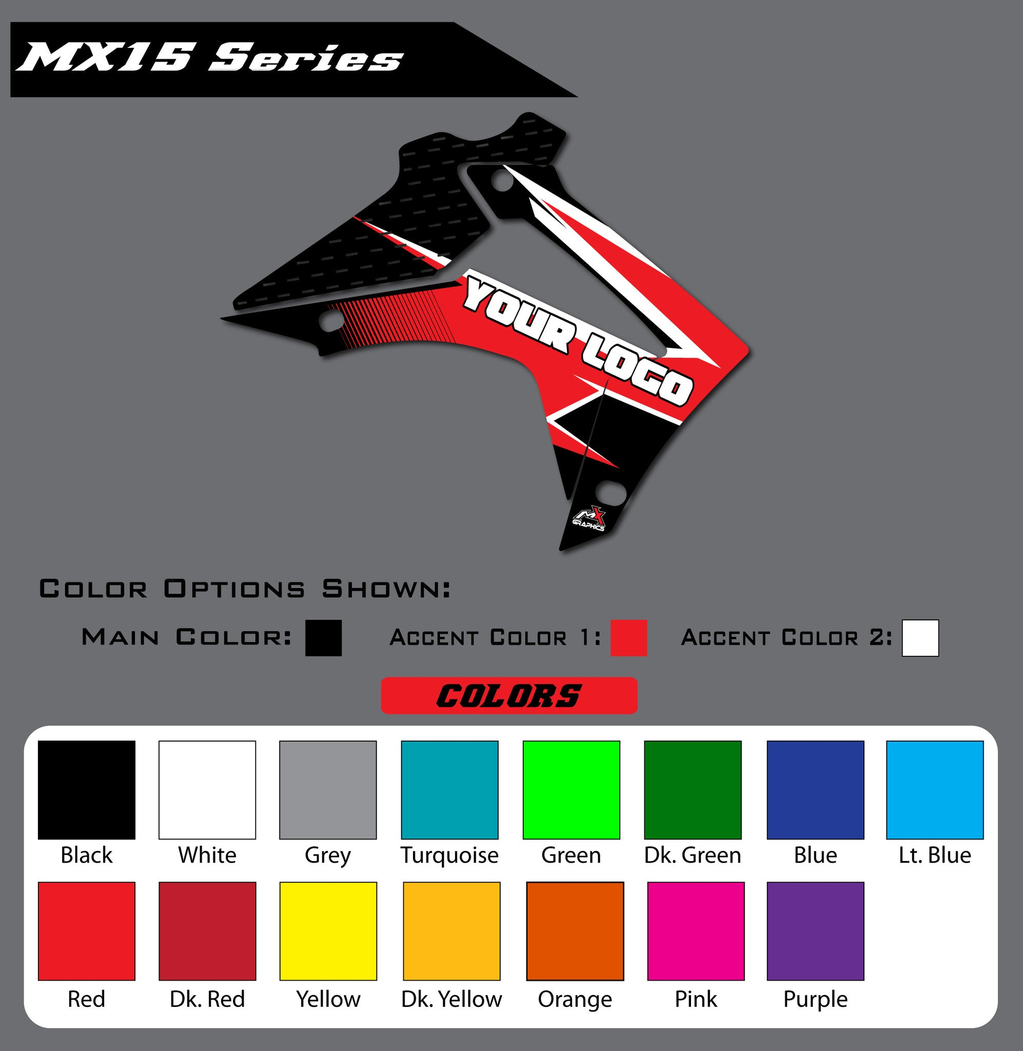 Honda MX15 Shroud Graphics