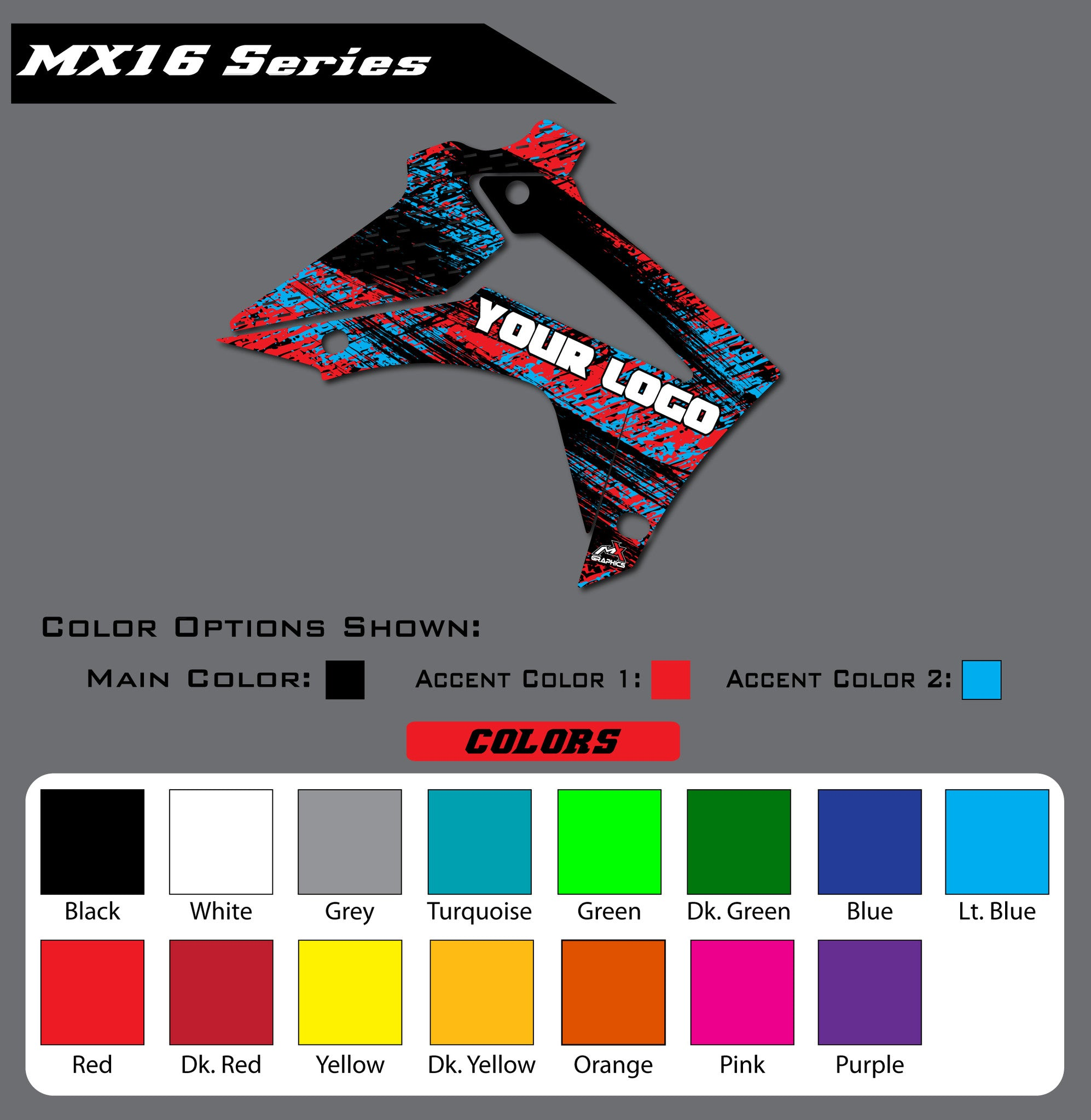 Honda MX16 Shroud Graphics