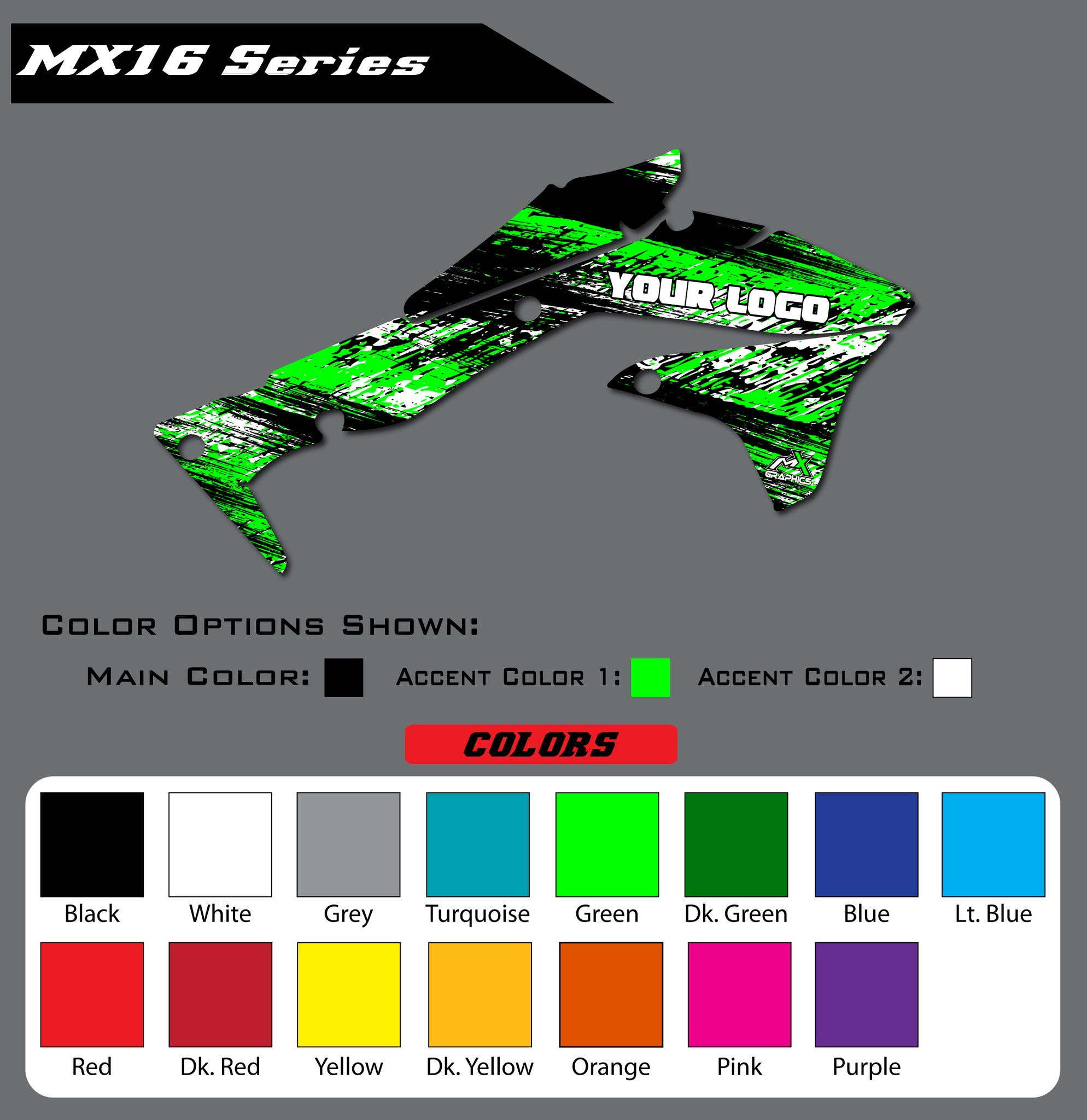 Kawasaki MX16 Shroud Graphics
