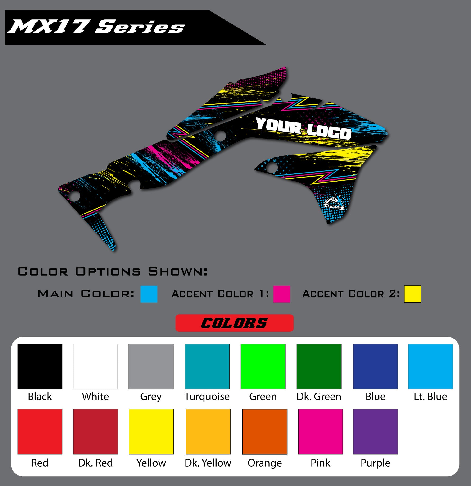 Kawasaki MX17 Shroud Graphics