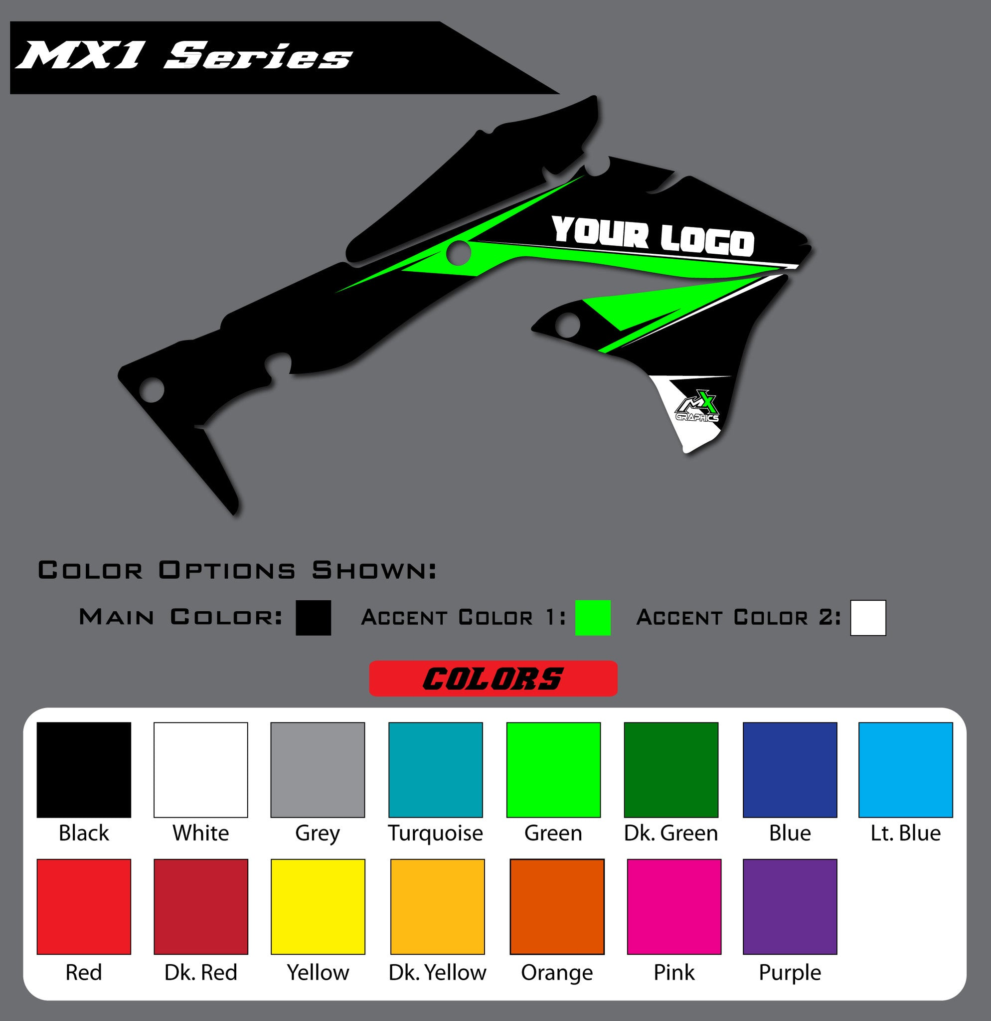 Kawasaki MX1 Shroud Graphics