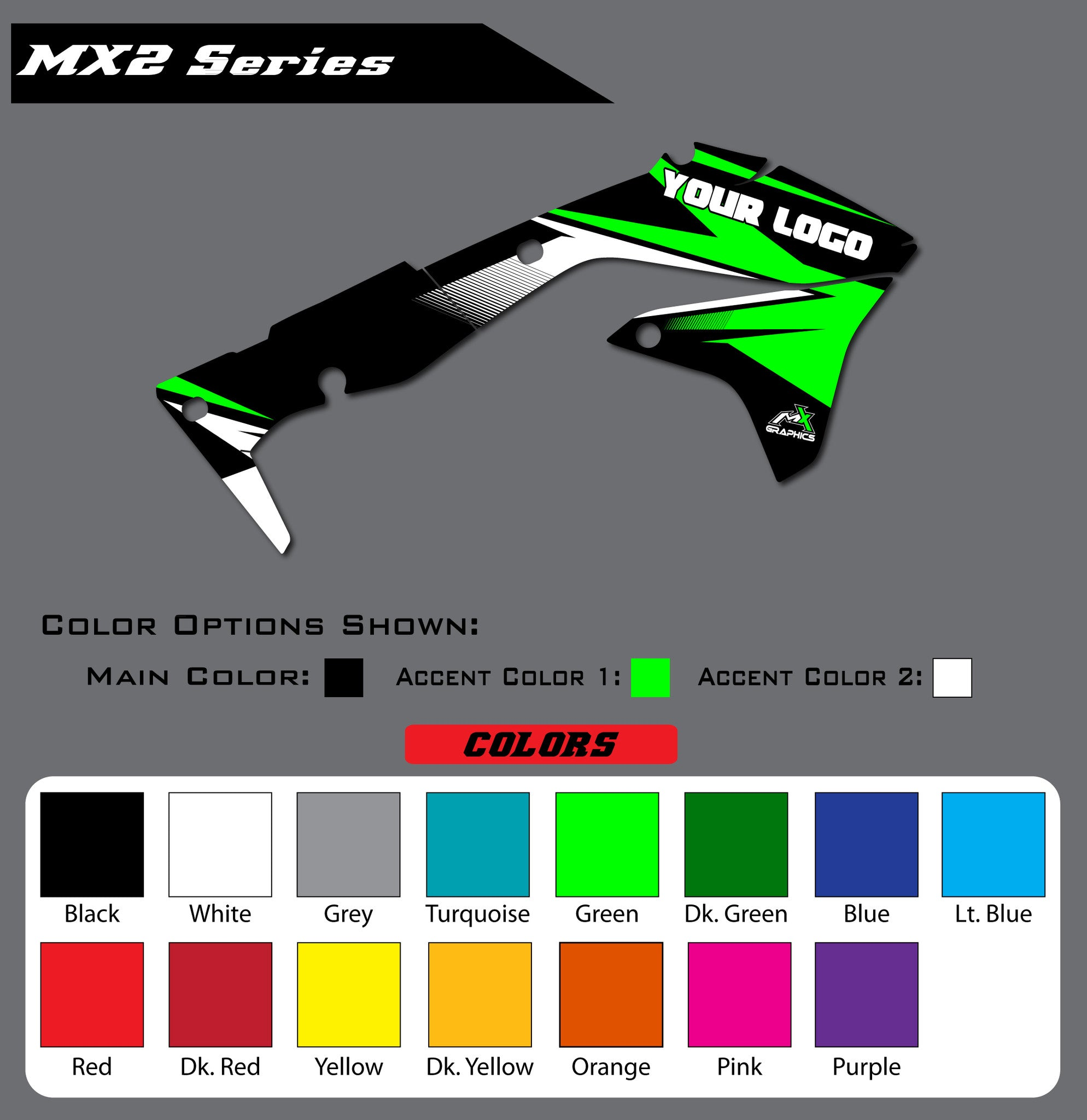 Kawasaki MX2 Shroud Graphics