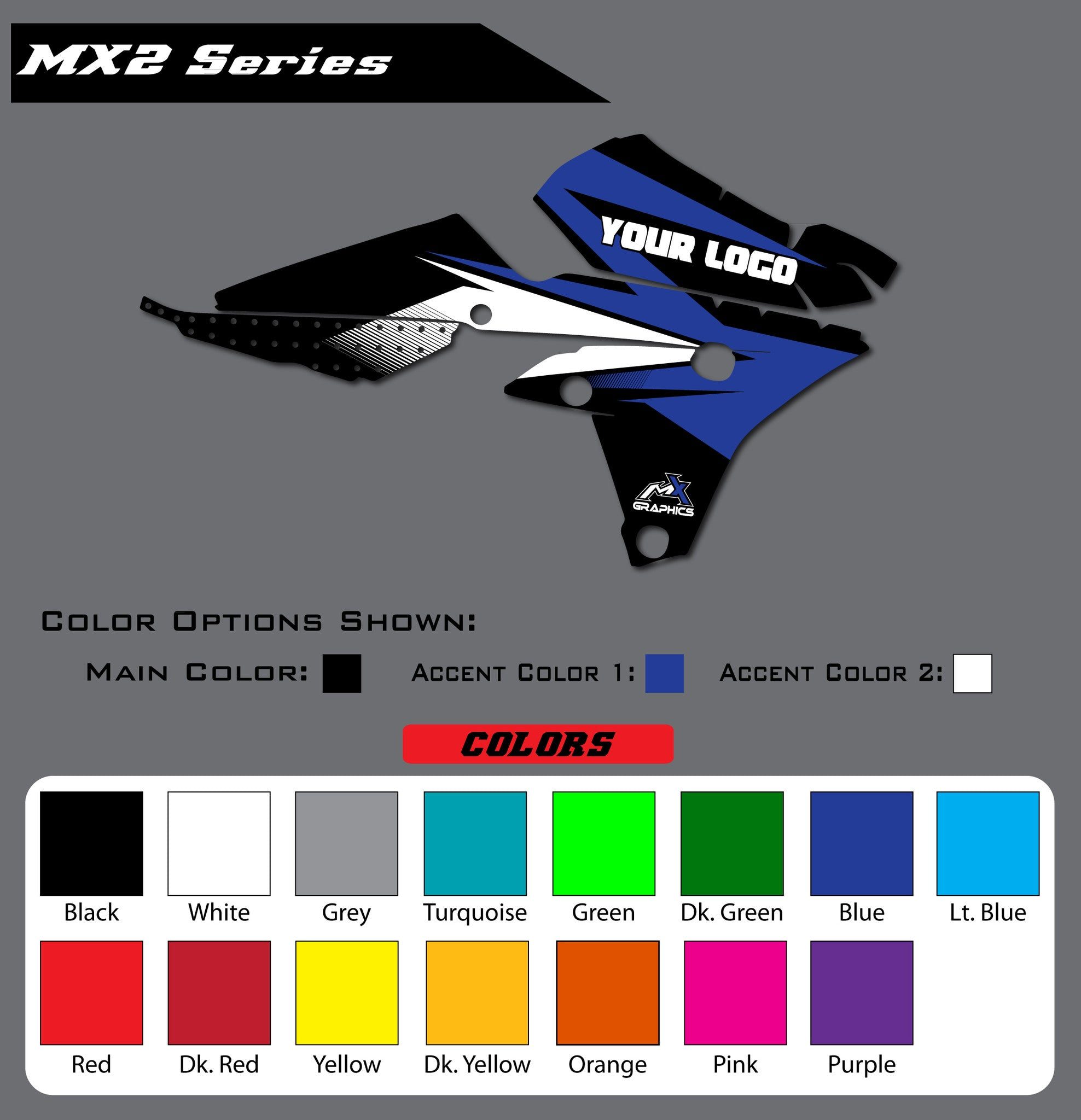 Yamaha MX2 Shroud Graphics