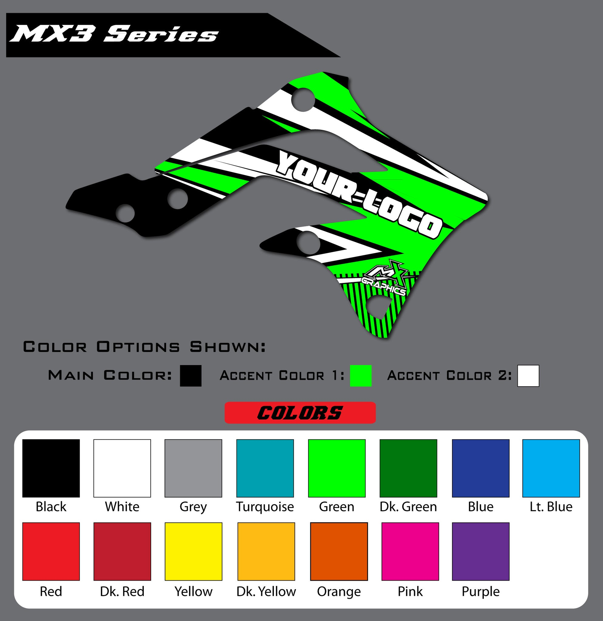 Kawasaki MX3 Shroud Graphics