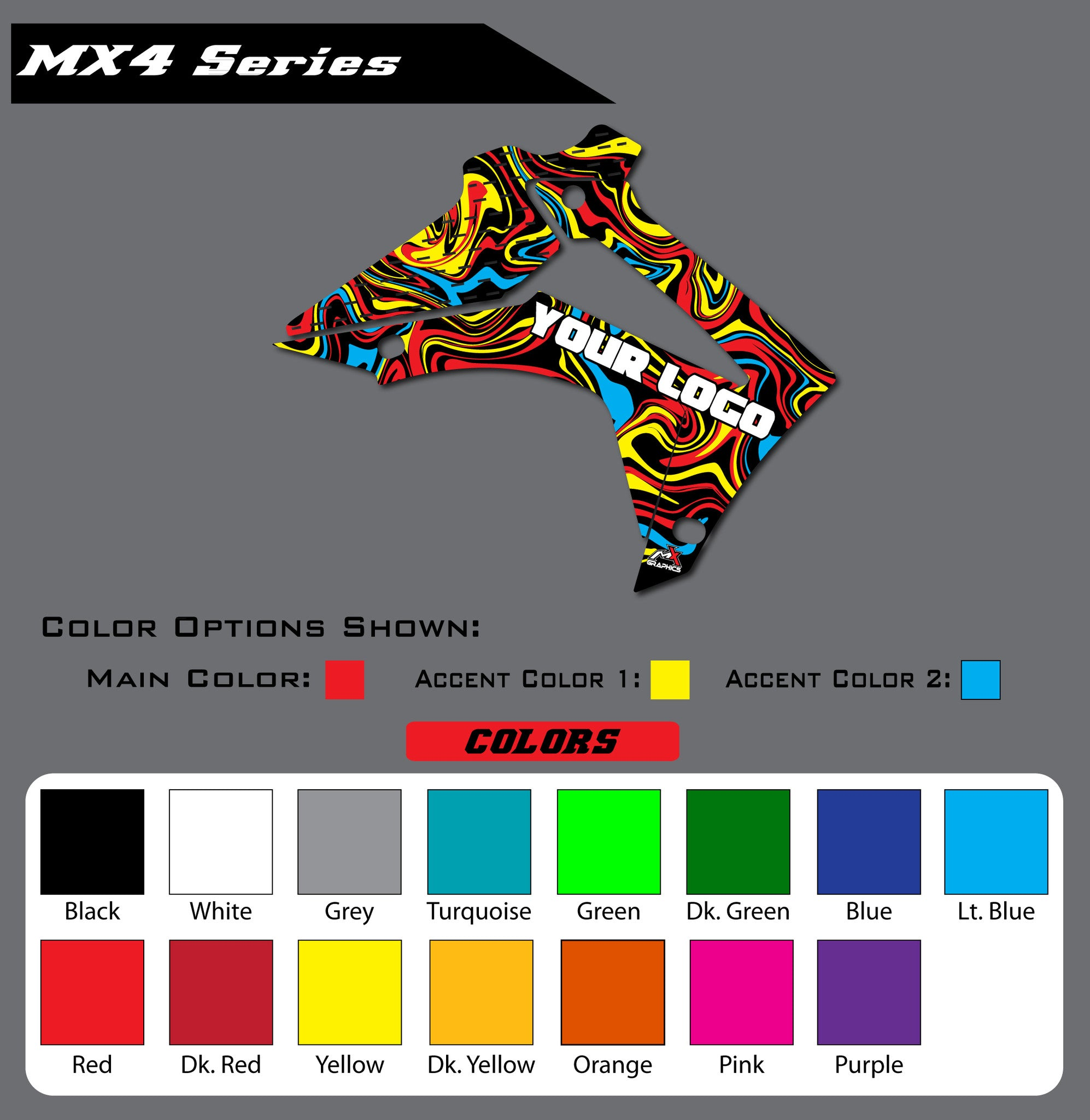 Honda MX4 Shroud Graphics