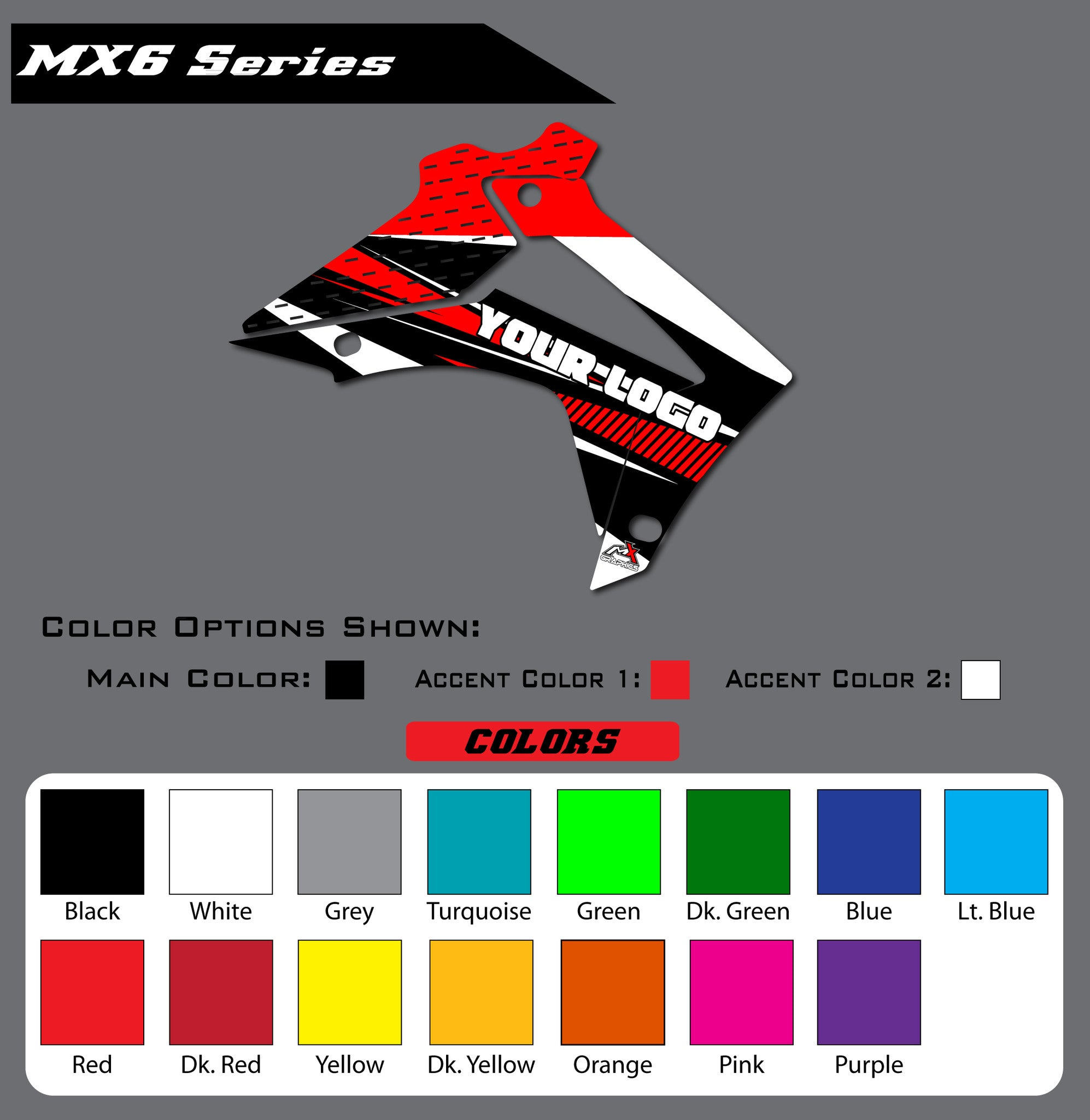 Honda MX6 Shroud Graphics